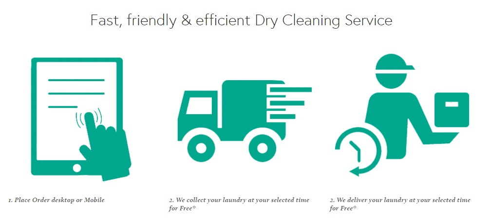 Dry Cleaning Pick up and Delivery. Same day And next day service