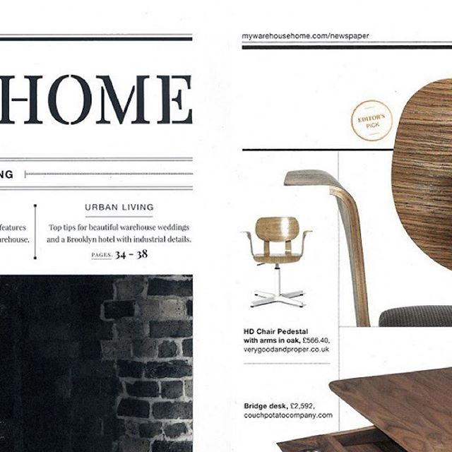 Bridge #desk, is one of the editor's picks of the last issue of @mywarehousehome, a publication for loft living, vintage style & industrial inspired interiors. #wewood#wewoodportuguesejoinery #wood#solidwood #design #portuguesefurniture#homeinteriors #innovativedesign#furnituredesign #timelessdesign#handcrafted #walnut #madeinportugal#bridge #bridgedesk #porto #magazine