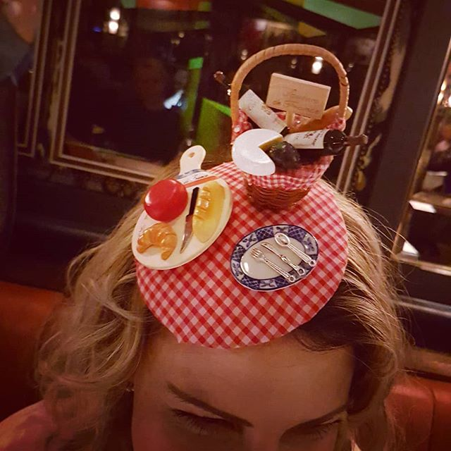 🇫🇷🗼Paris is always a good idea....🗼🇫🇷 Especially when it inspires a new headpiece!  Showcasing my 'Parisian Picnic' headpiece at @ivysohobrass this week, created with some little gems that I pickled up on my recent weekend trip to the City of Lights. Made by me @thehatologist  #thehatologist #bespokehats #millinery #headpiece #hat #style #victoriawright #hatfashion #madhatter #hatsofinstagram #fascinator #hatology #madebyme #homemade #bespoke #paris #wineandcheese #picnic #cityoflights