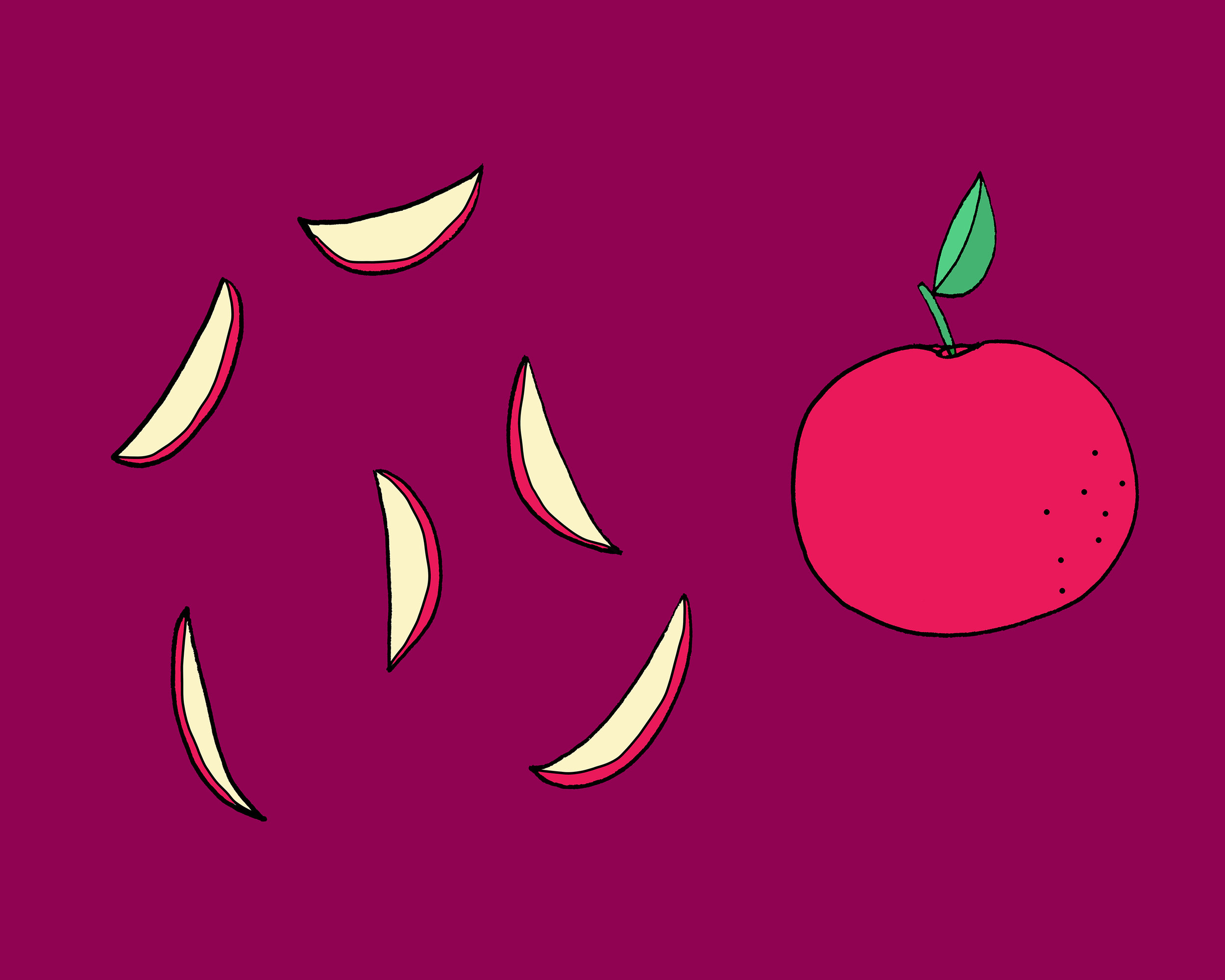 Apple Illustration by Emma Freeman Designs