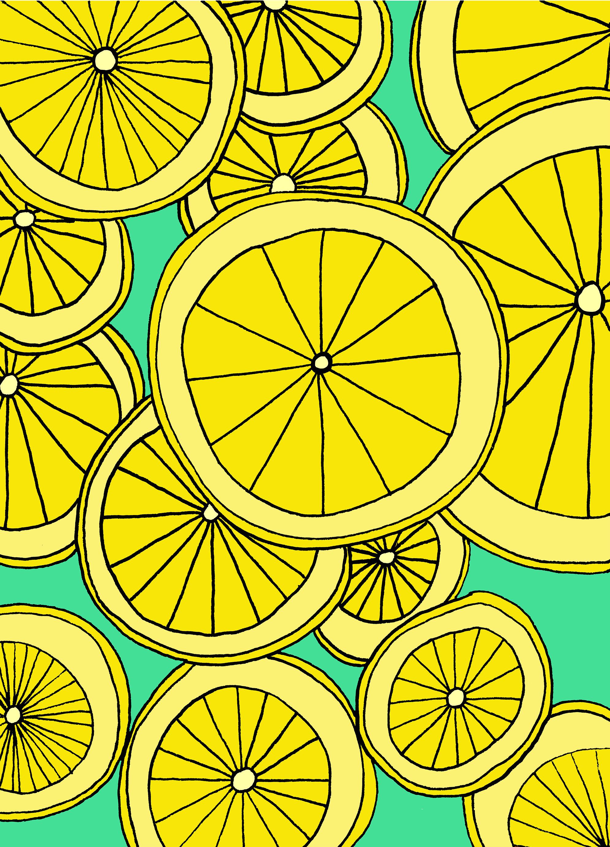 Lemons Illustration by Emma Freeman Designs