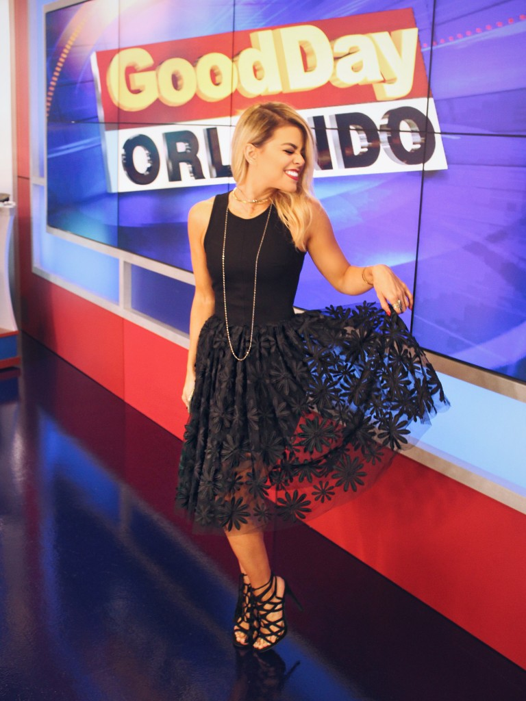 For the segment, I went with an all black look.
