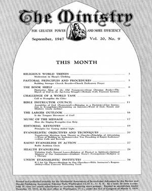 Ministry, September 1947 -