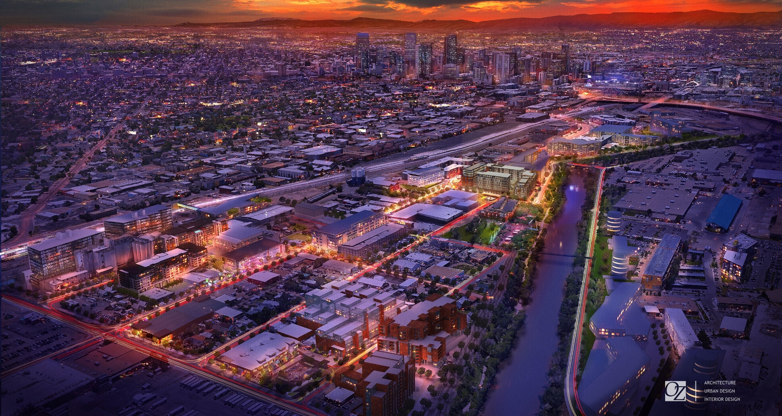 OZ Architecture's rendering of RiNo neighborhood's redevelopment by the year 2020.