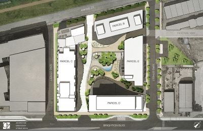 OZ Architecture aerial rendering of the site plan