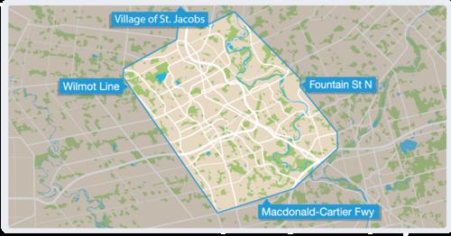 Kitchener Waterloo Map