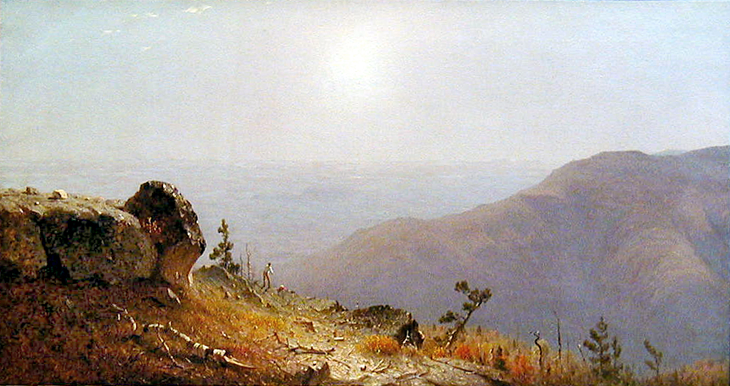 Sanford Gifford's  The View from South Mountain, in the Catskills , 1873