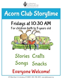 Join us every Friday at 10:30am for Storytime! -
