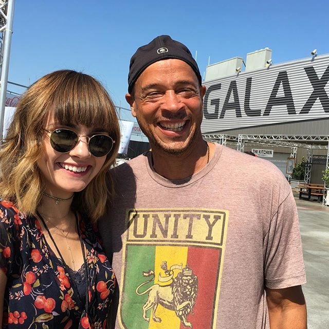 @avamaybee and Norm from @rhythmchild  Getting ready to perform in the first hour of #WeareLAFest. Gates are about to open. Come on down!