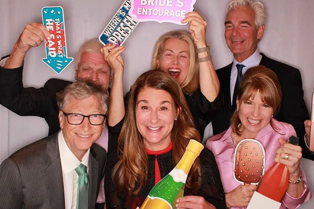 Thanks for stopping by the photobooth,  @thisisbillgates @melindafrenchgates