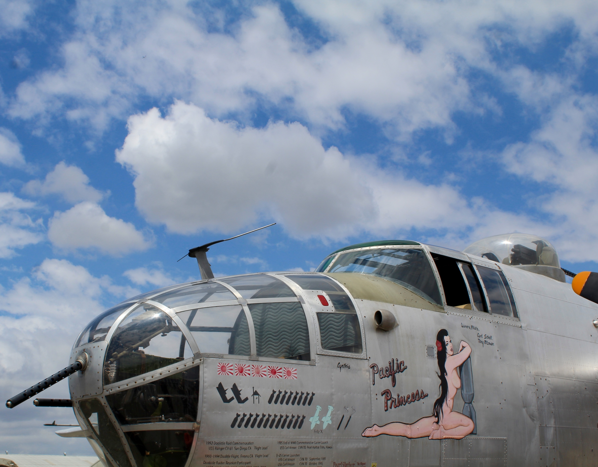 My sons' favorite plane - they really respect the Mitchell Bomber and its role in the Doolittle Raids. That's why they took so, so, so, so many photos of the nose art.