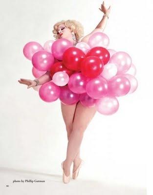 """Dirty Martini"": Plus-Size Balloon-Popping Goddess"
