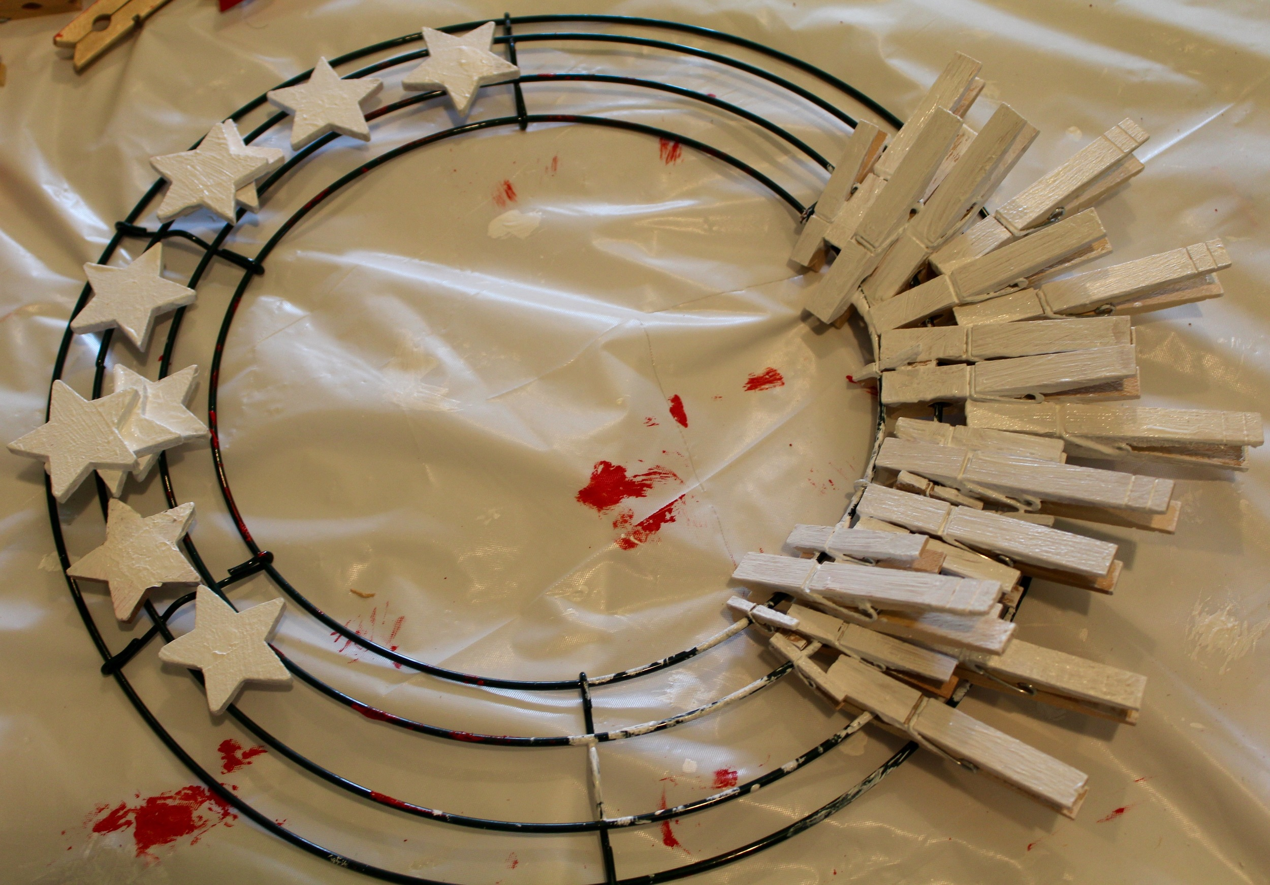Memorial Day Clothespin Wreath