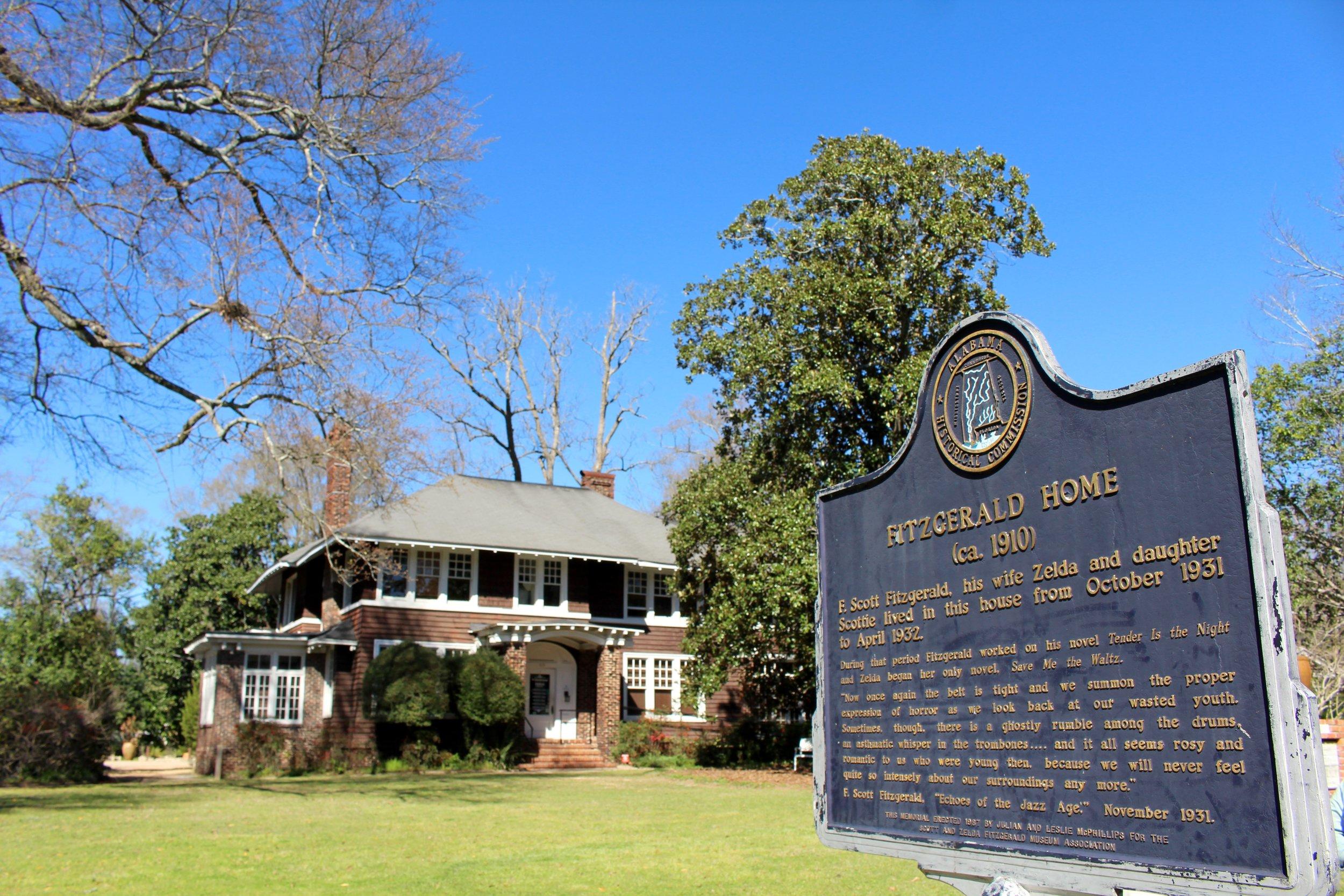 #7 The Scott & Zelda Fitzgerald Museum