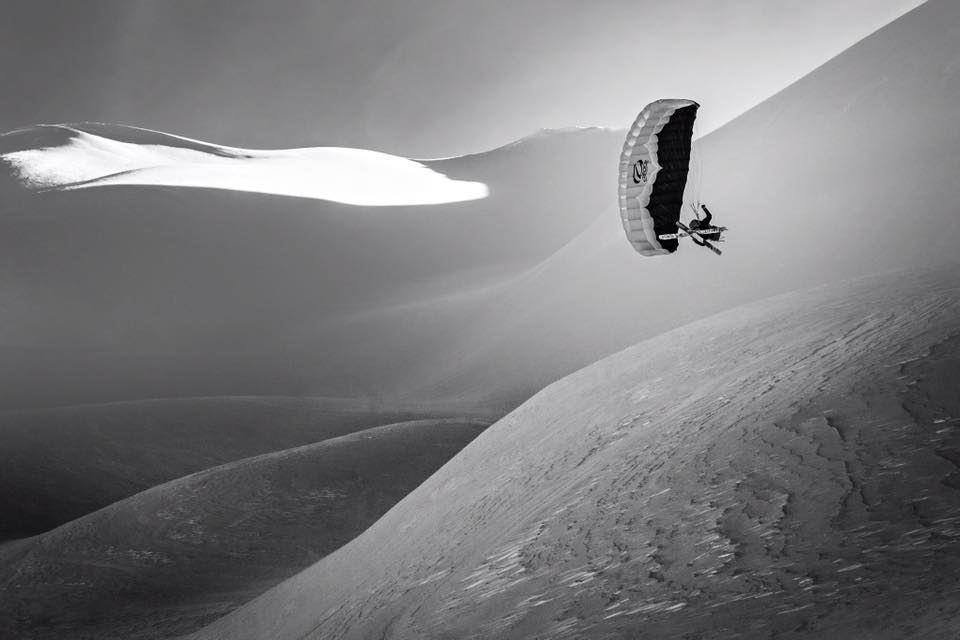 Brian speed-winging at Snoqualmie