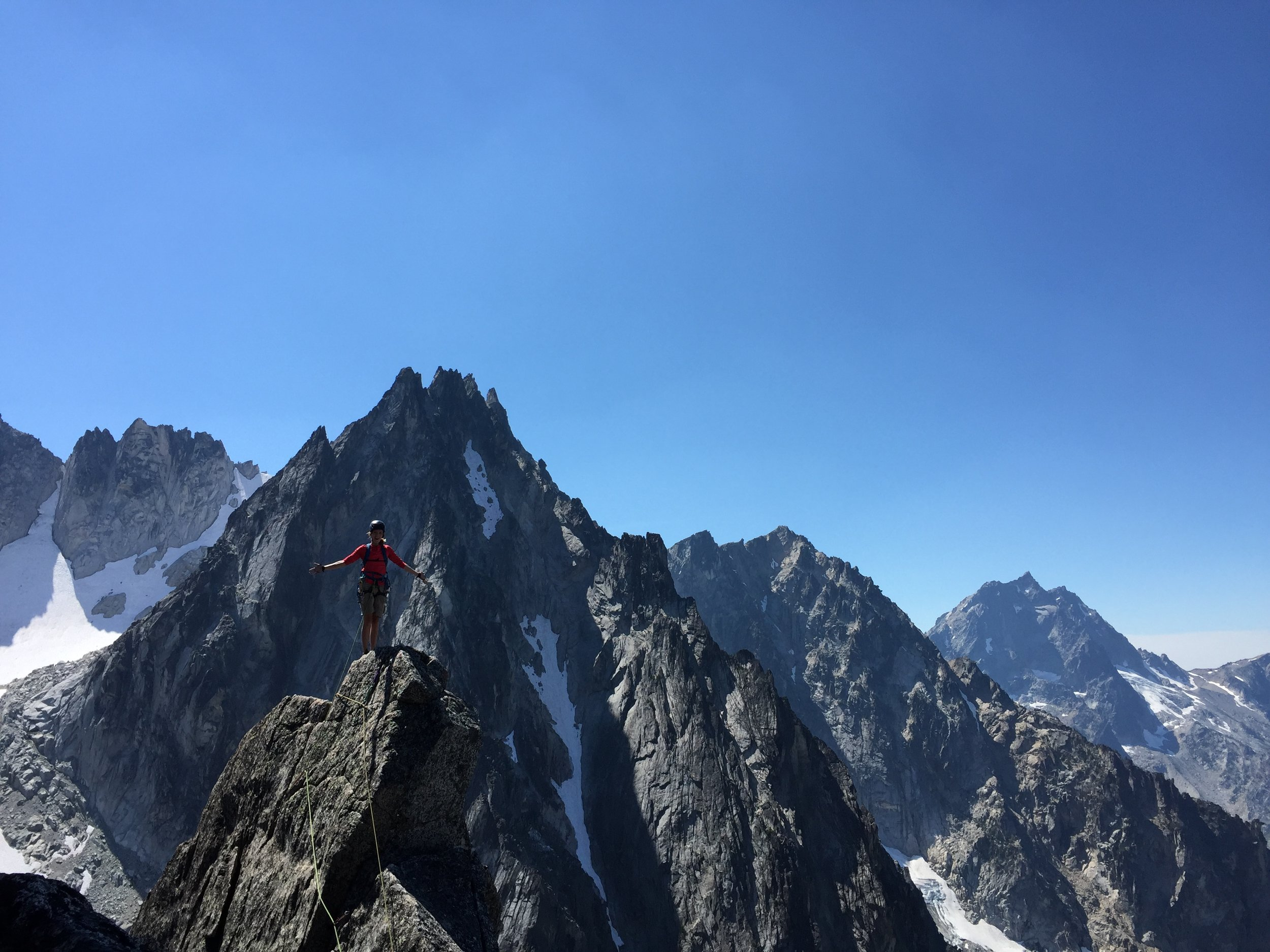 Zac (w/ his better half) alpine climbing in the Enchantments