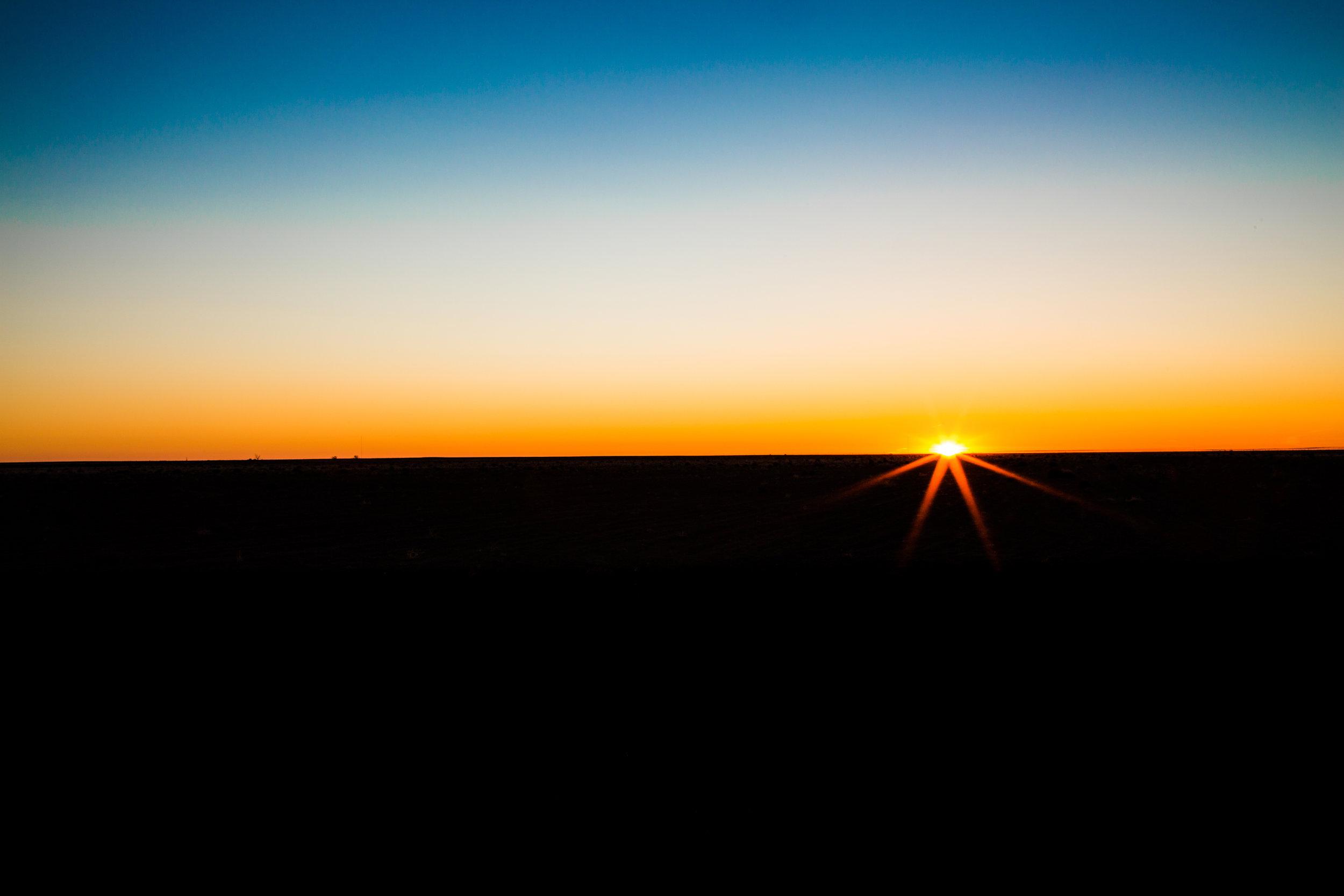 Sunrise in Two Buttes, Colorado