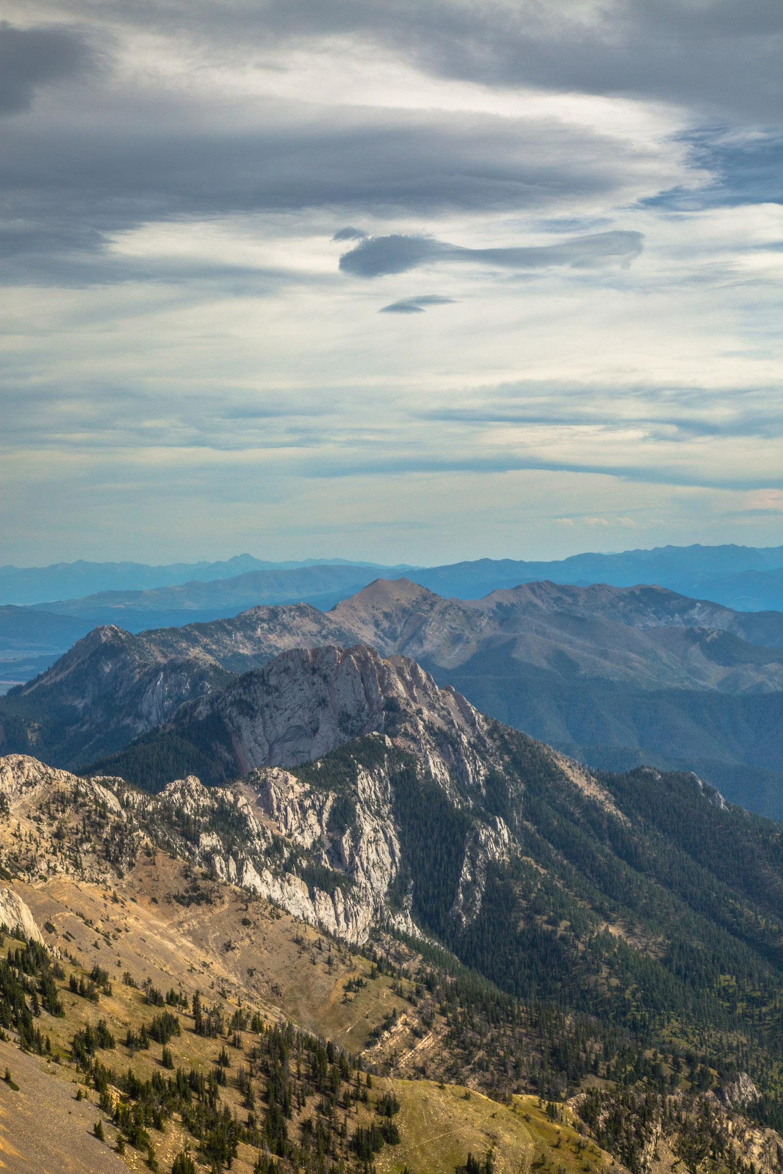 Atop Sacagawea Peak in the Bridger Mountain Range