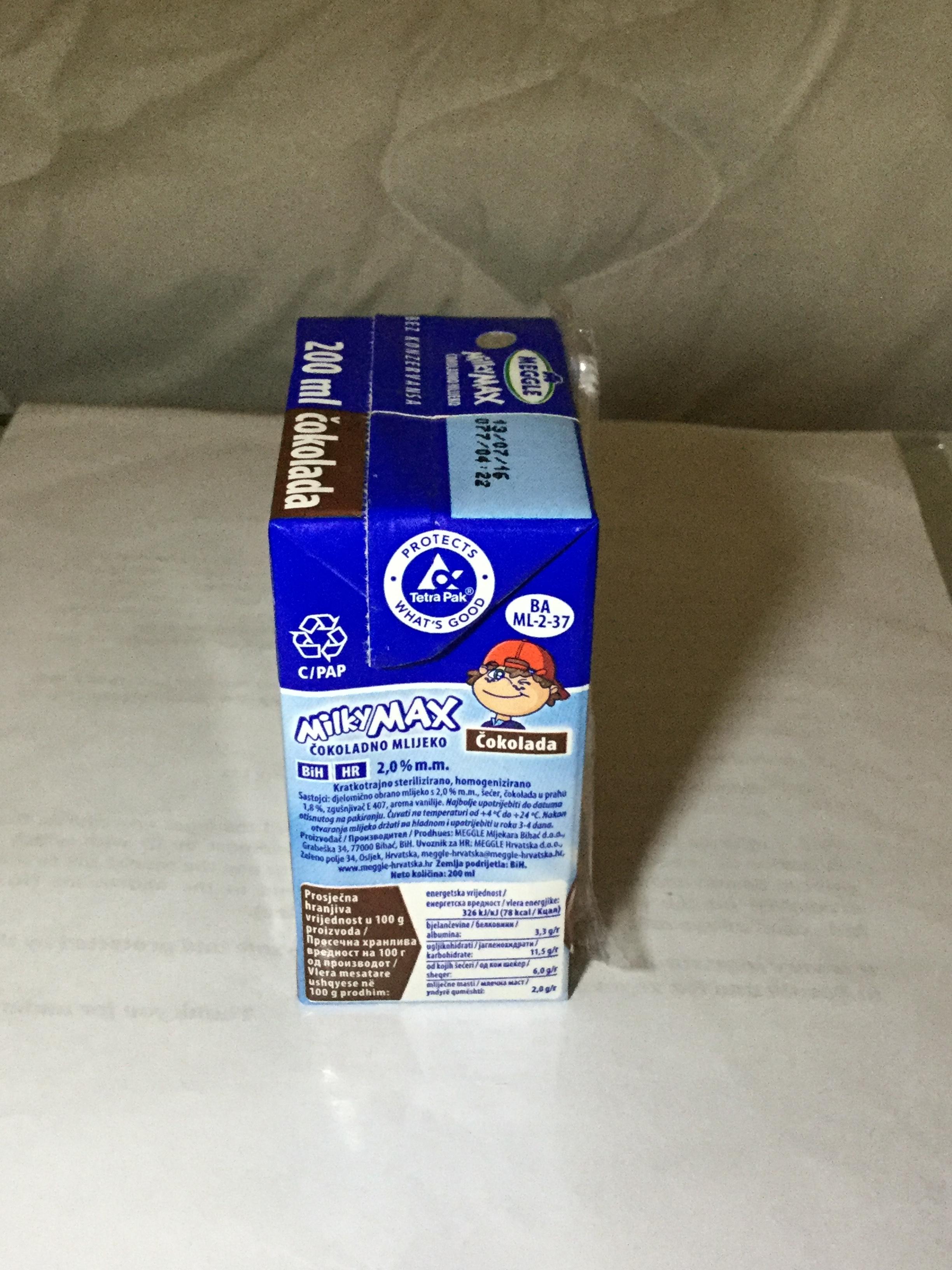 Meggle Milky Max Čokoladno Mlijeko Side 1