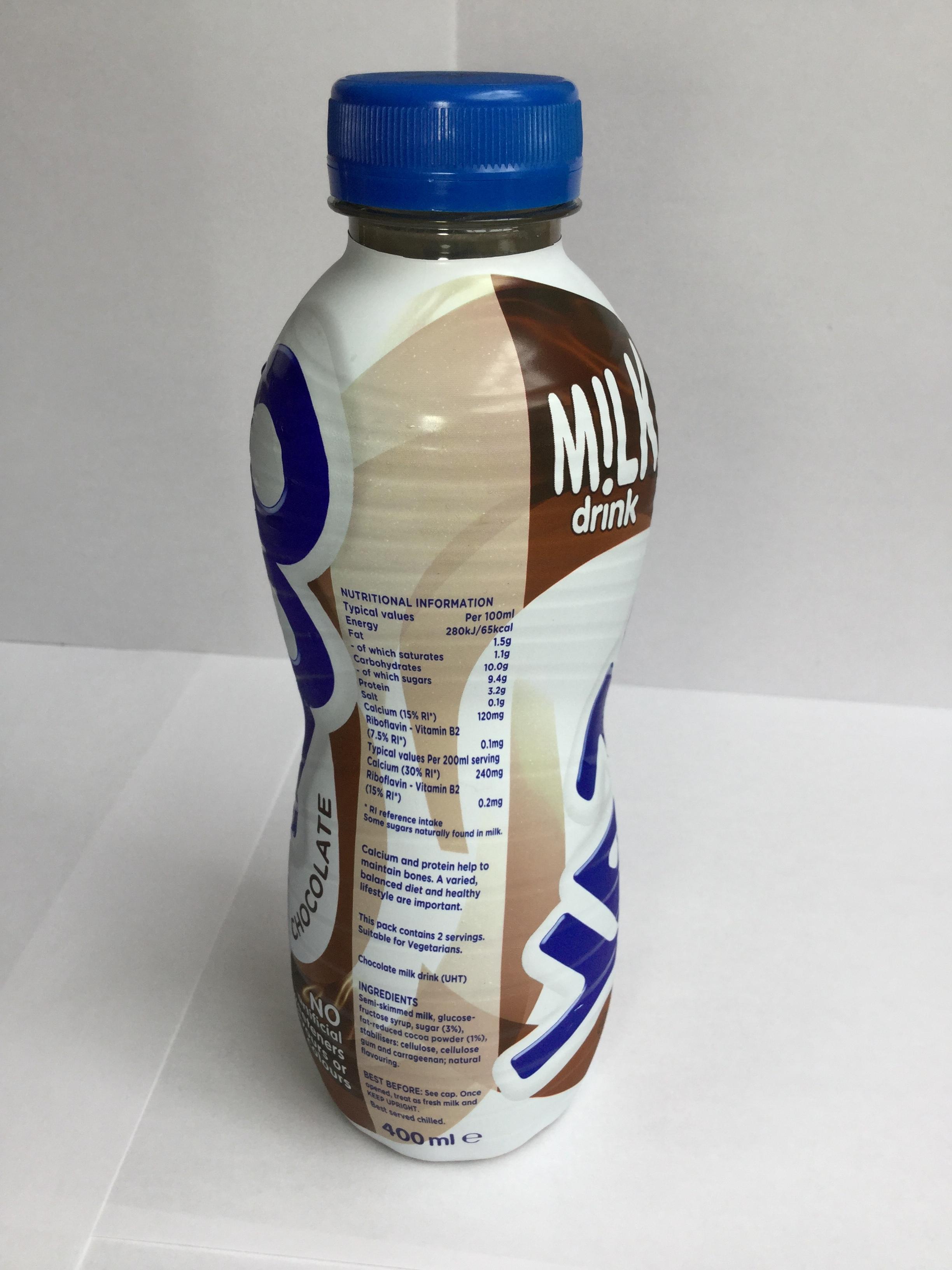 Yazoo Chocolate Milk Drink Side 1