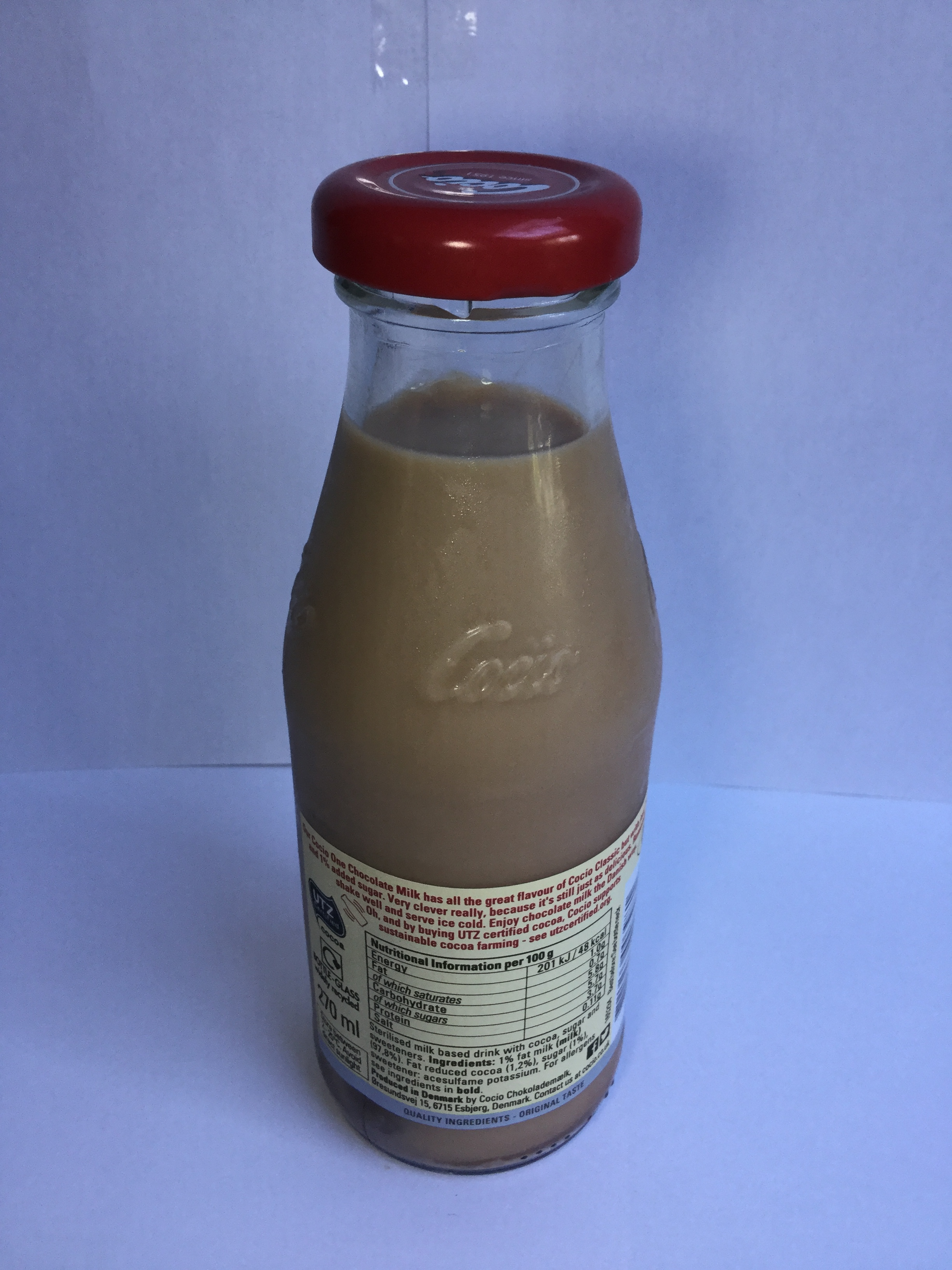 Cocio One Chocolate Milk Side 1
