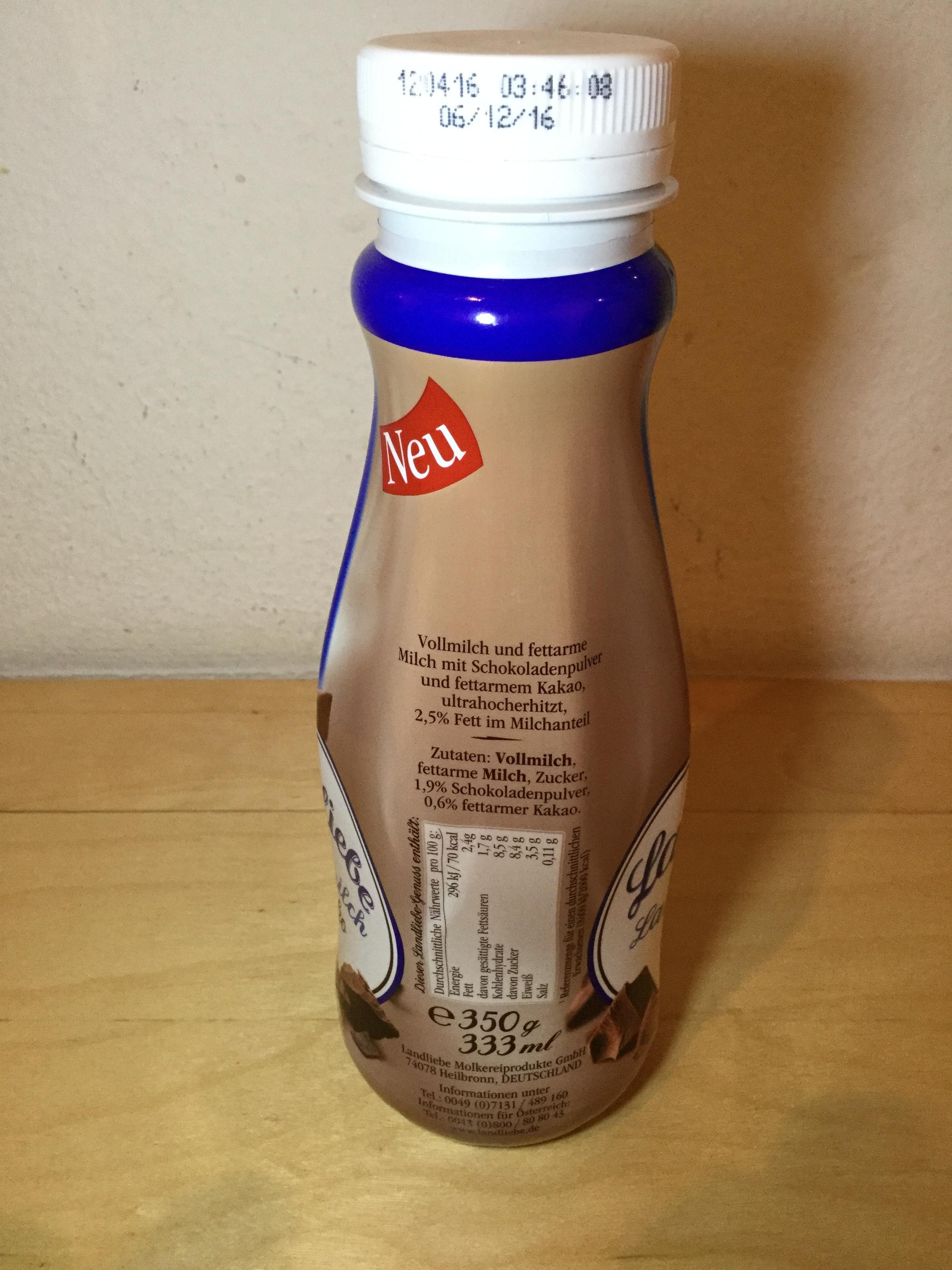 Landliebe Landmilch Schoko Side 1