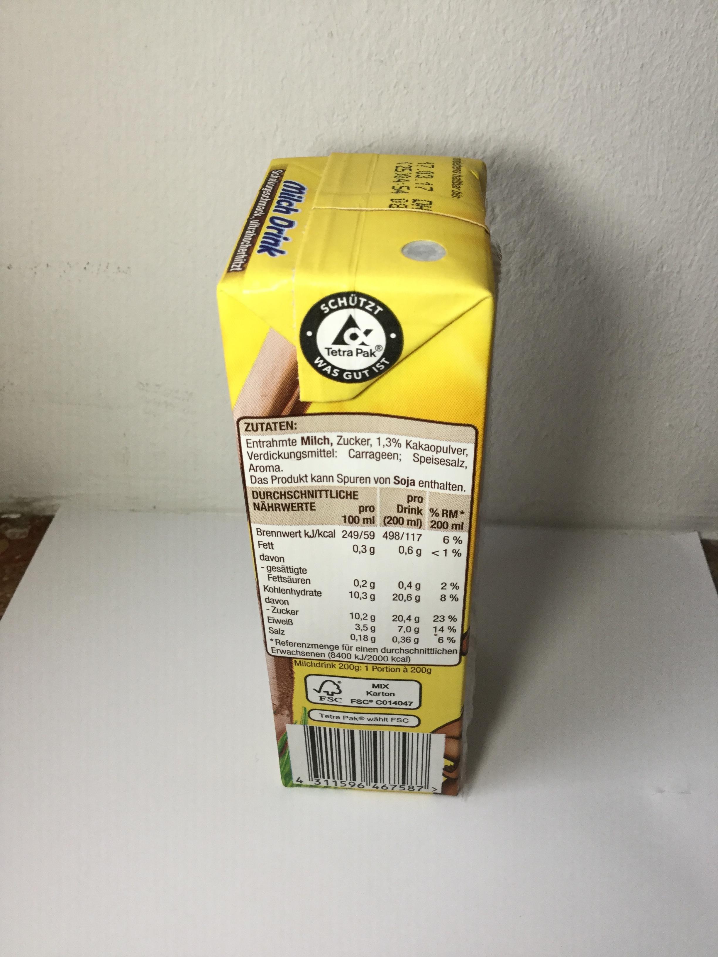 Edeka Gut & Günstig Milch Drink Schokogeschmack Side 1