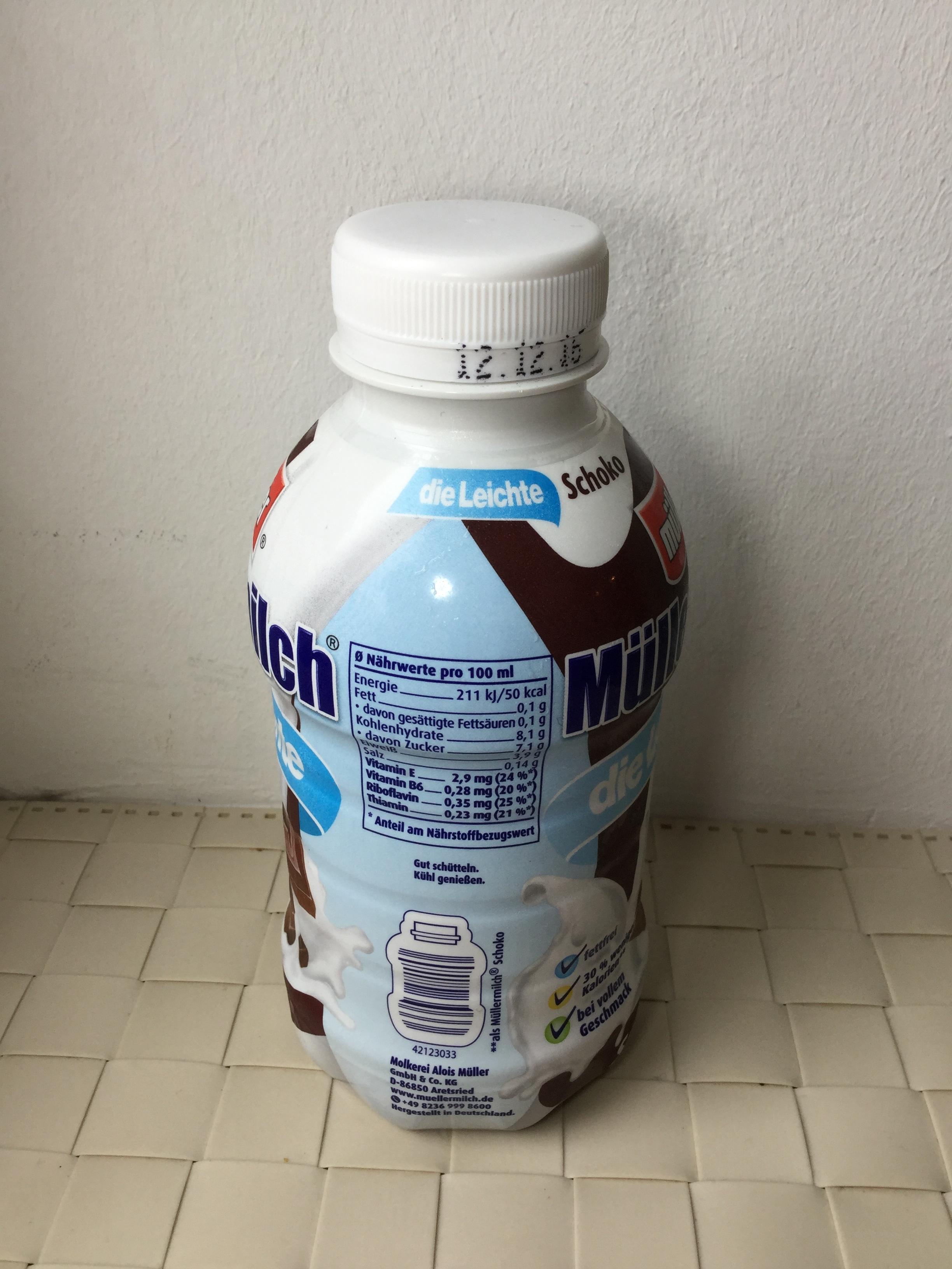 Müllermilch Die Leichte Schoko Side 1