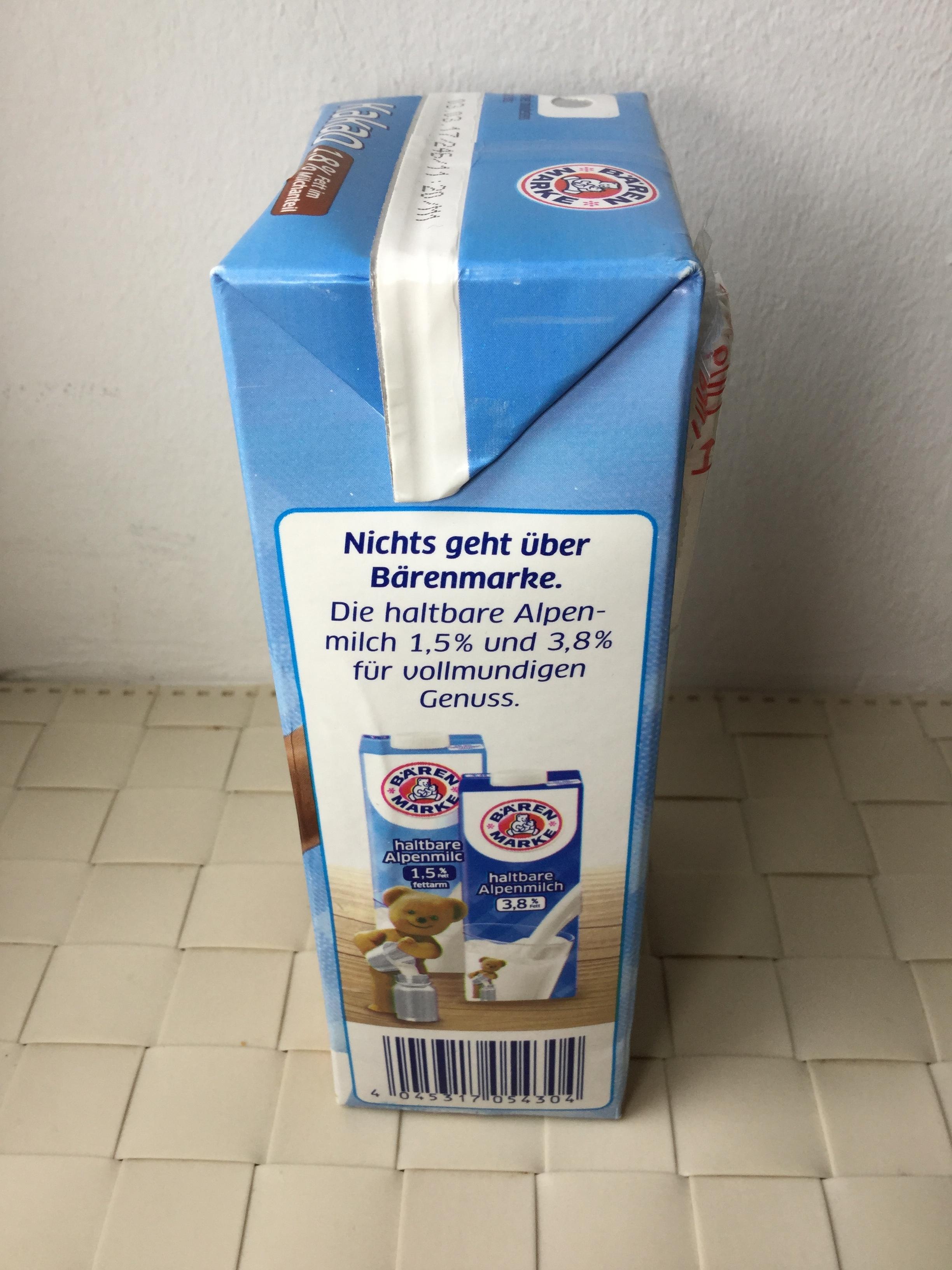 Baren Marke Kakao (1.8%) UHT Side 2
