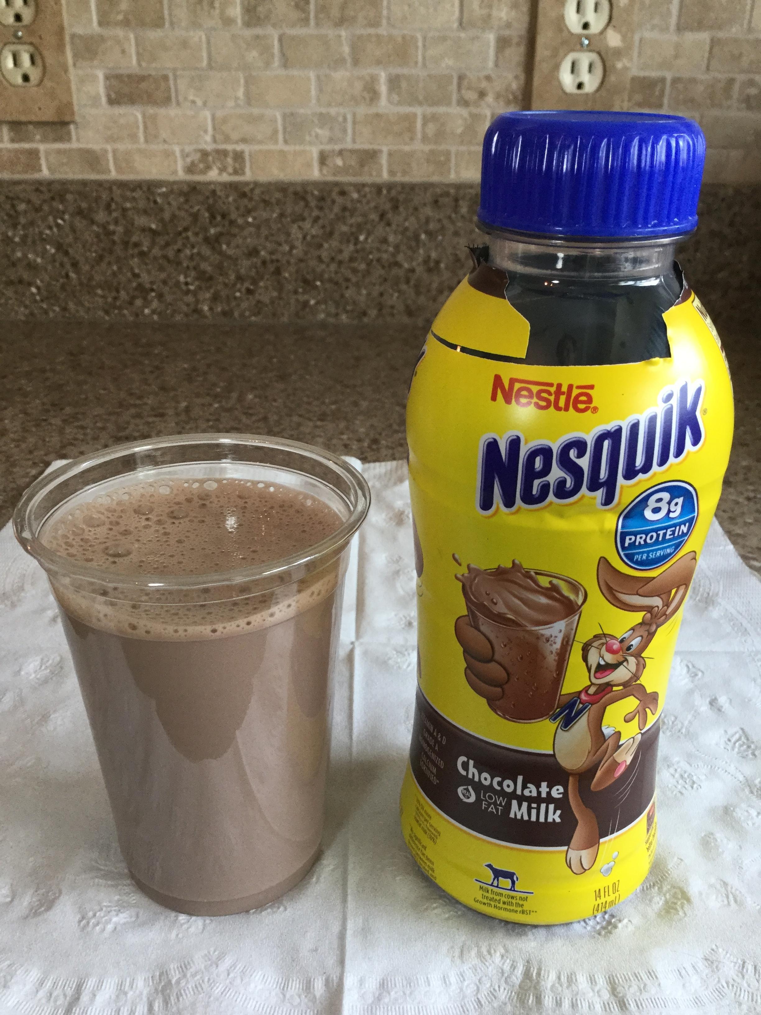 Nestle Nesquik Low Fat Chocolate Milk Cup
