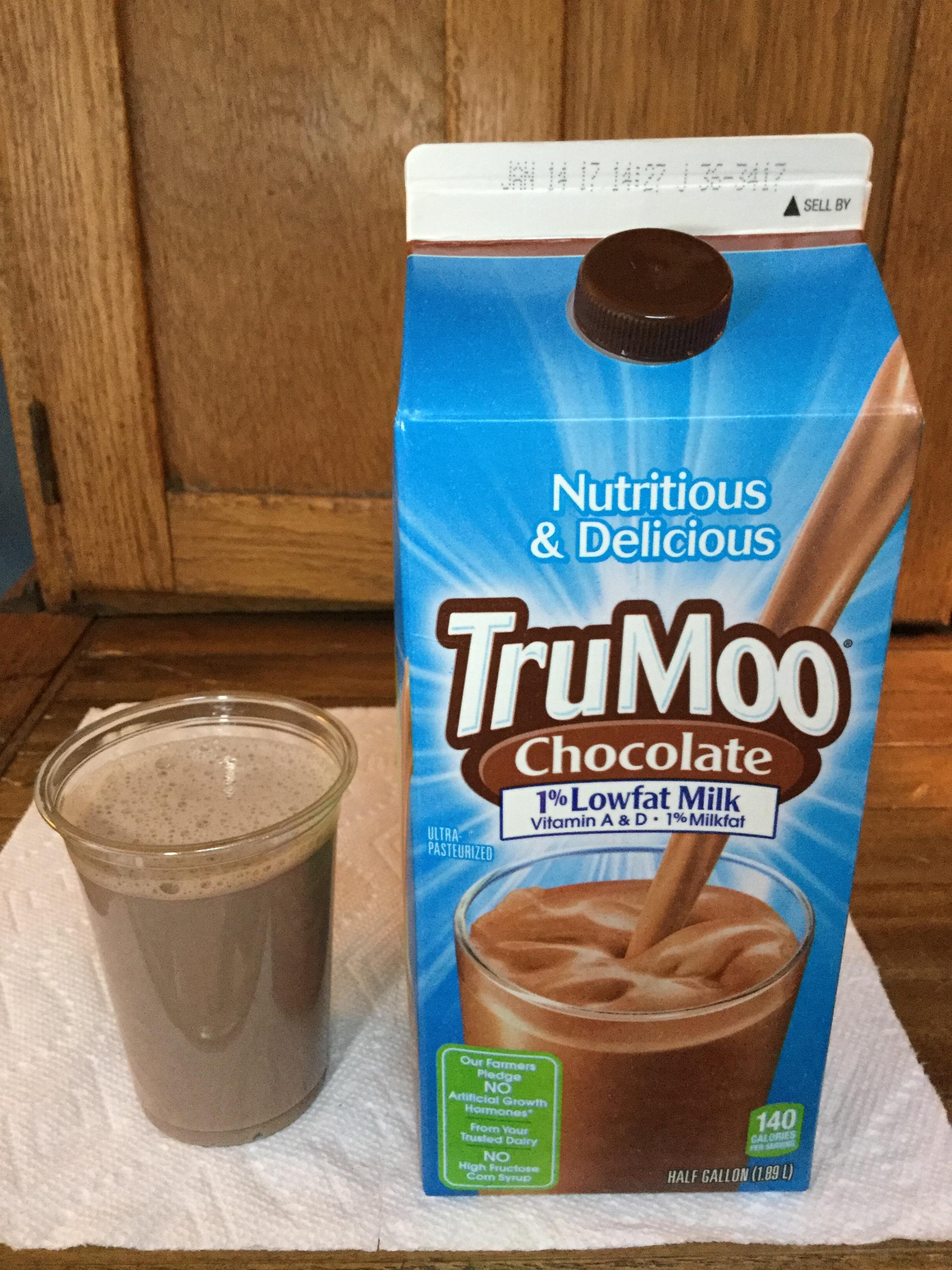 TruMoo Chocolate 1% Lowfat Milk Cup