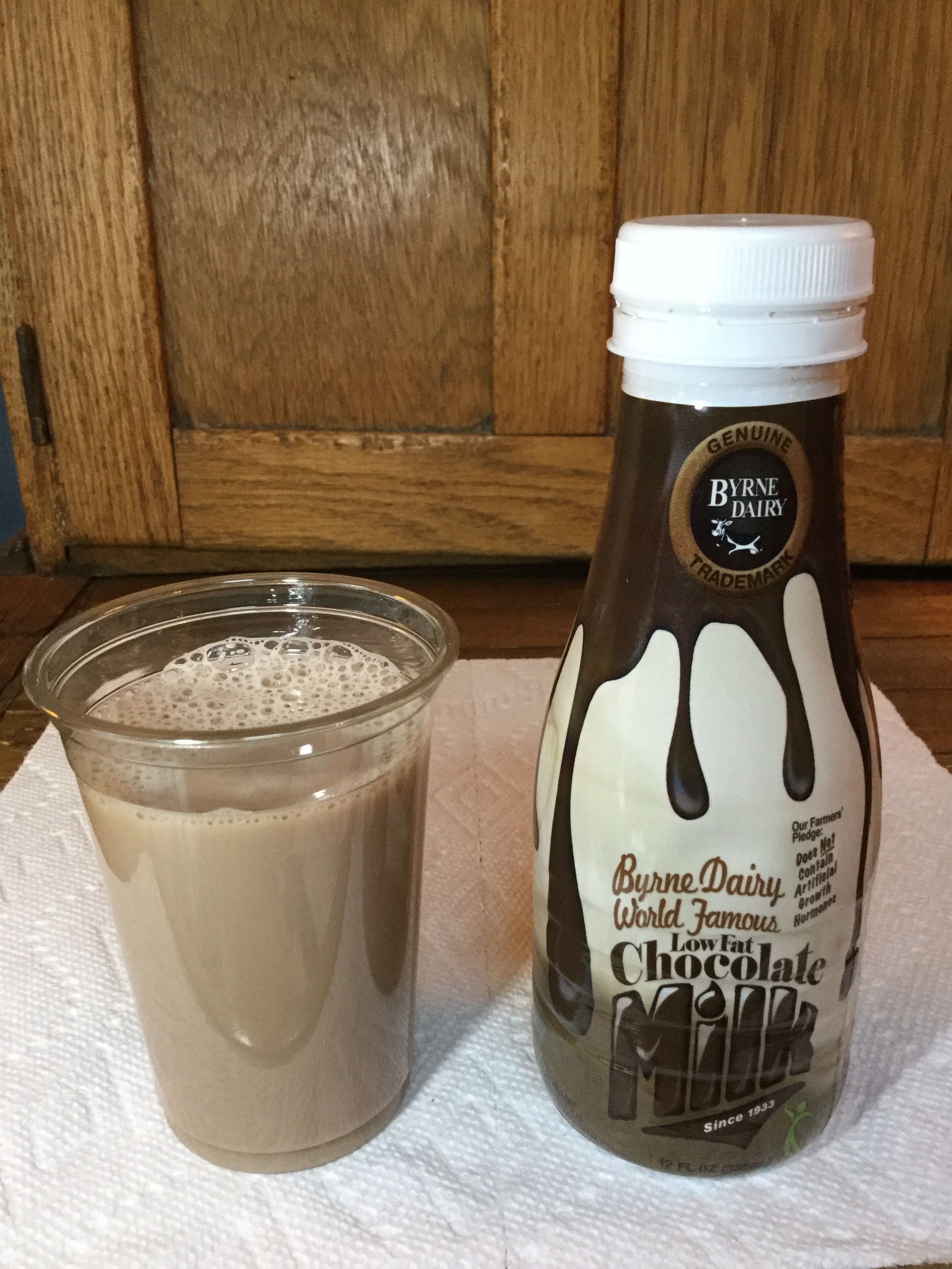 Byrne Dairy World Famous Low Fat Chocolate Milk Cup
