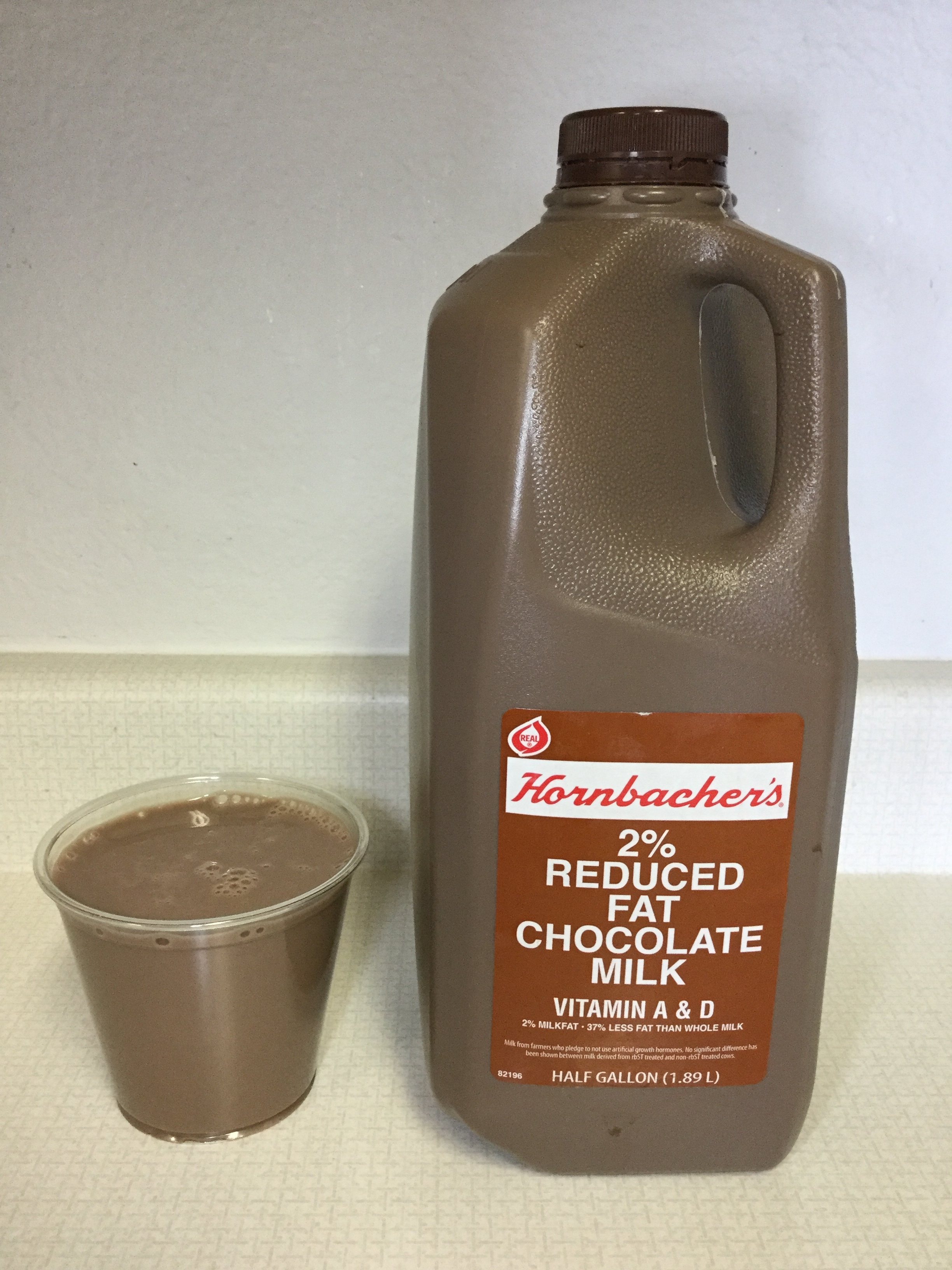 Hornbacher's 2% Reduced Fat Chocolate Milk Cup