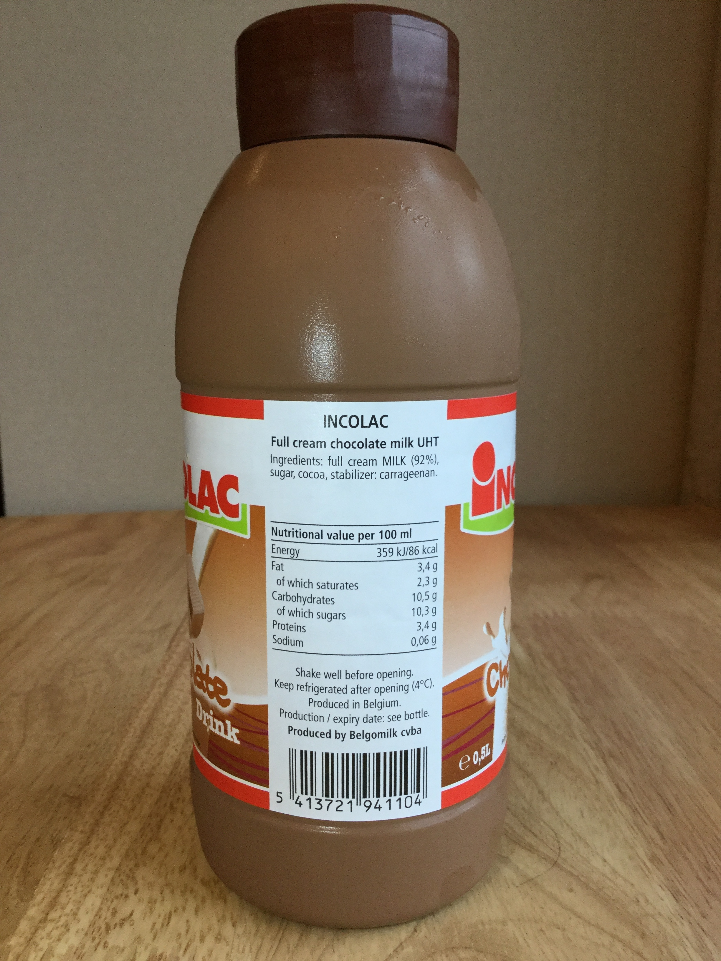 Incolac Chocolate Drink Side 1