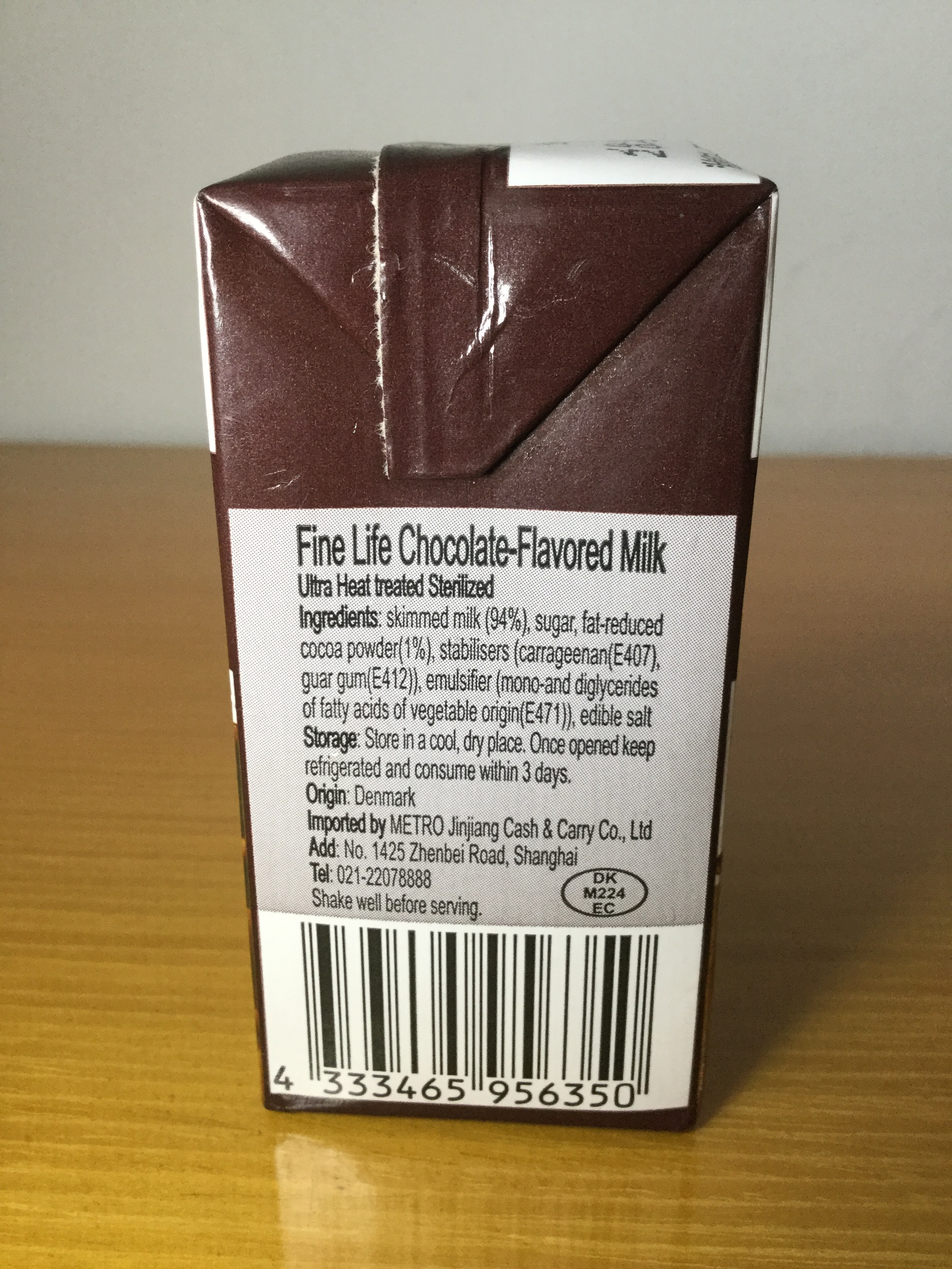 Fine Life Chocolate Flavored Milk Side 2