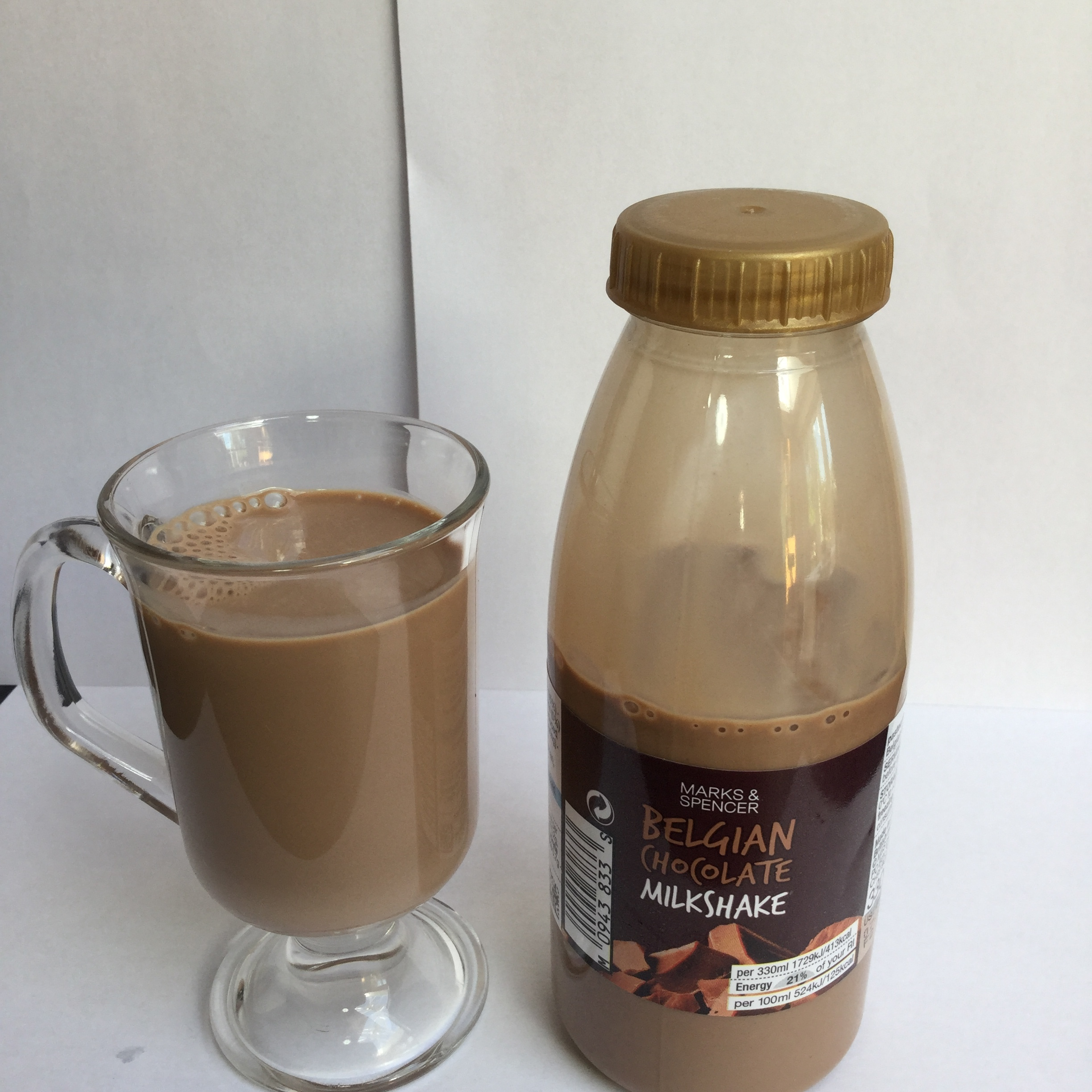 Marks & Spencer Belgian Chocolate Milkshake Cup