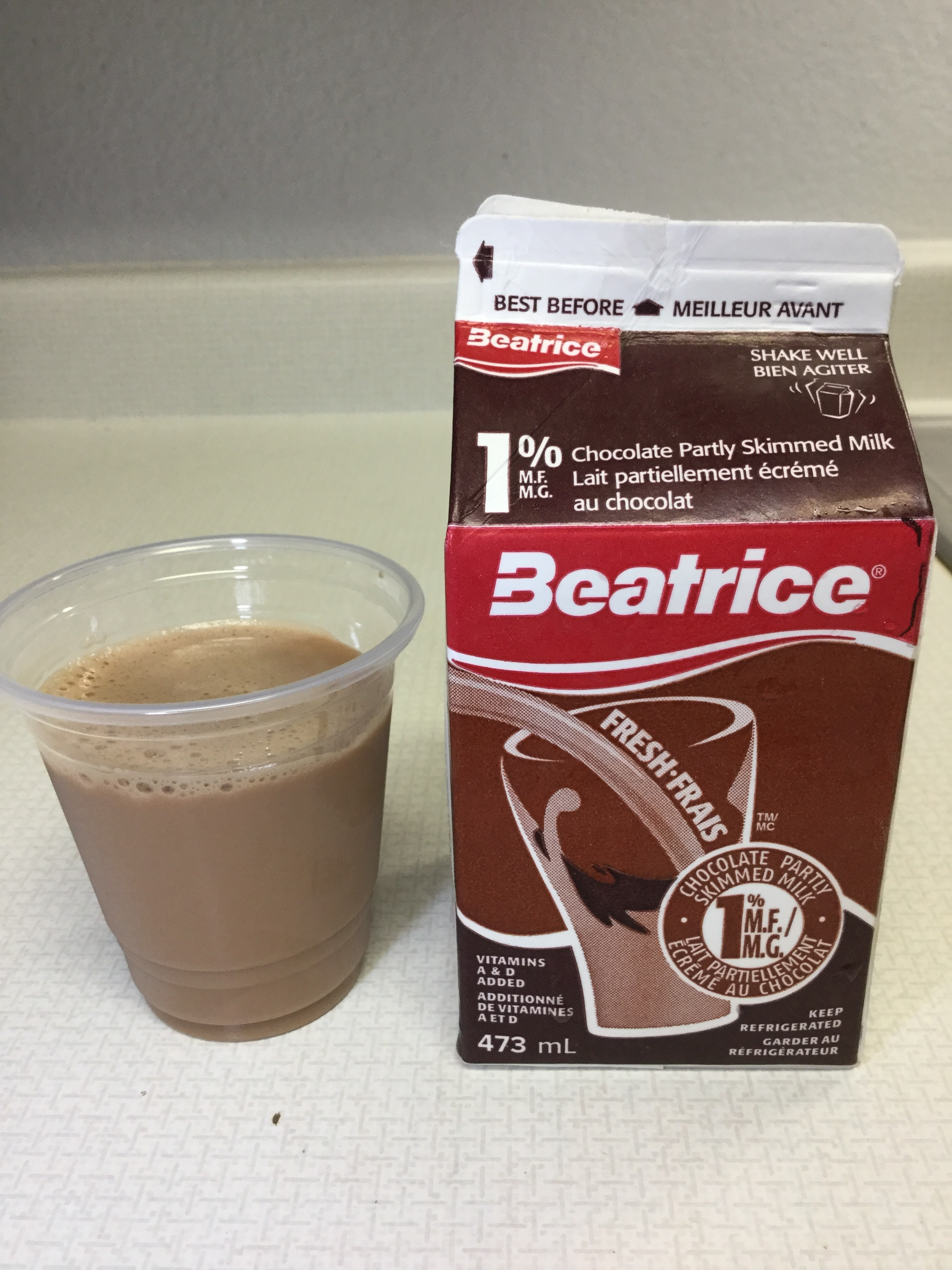 Beatrice Chocolate Partly Skimmed Milk Cup