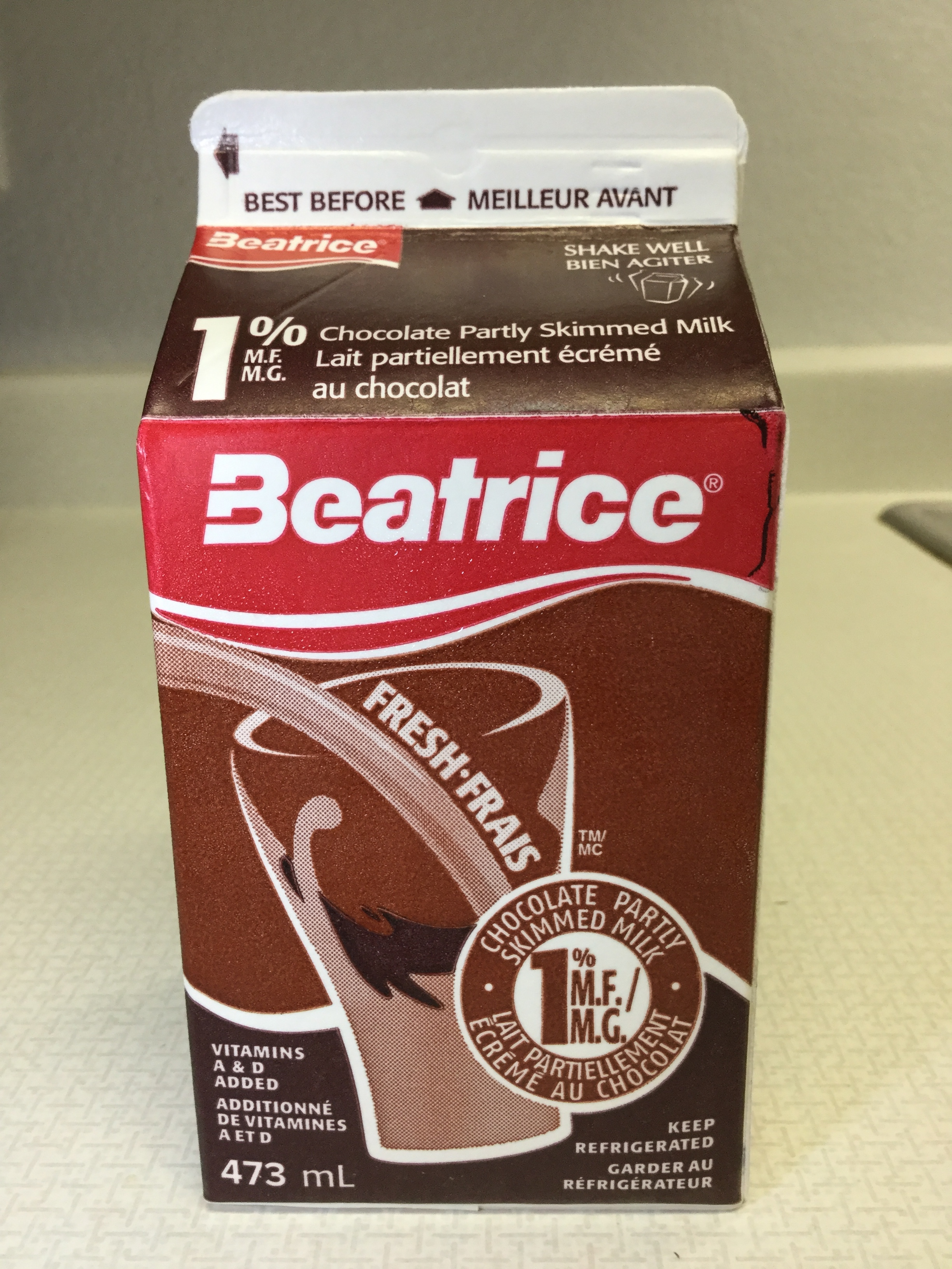 Beatrice Chocolate Partly Skimmed Milk Side 3