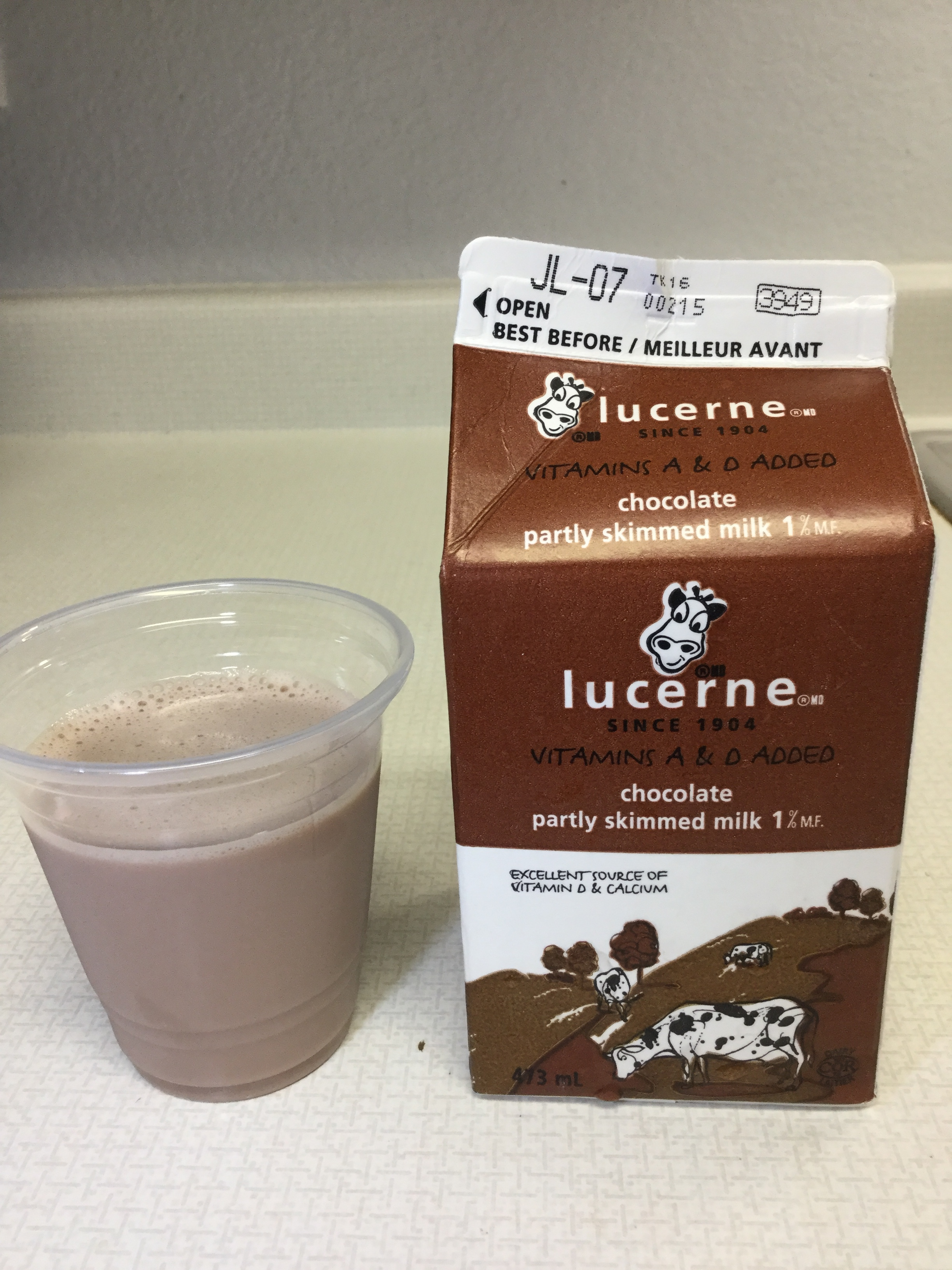 Lucerne Chocolate Partly Skimmed Milk Cup
