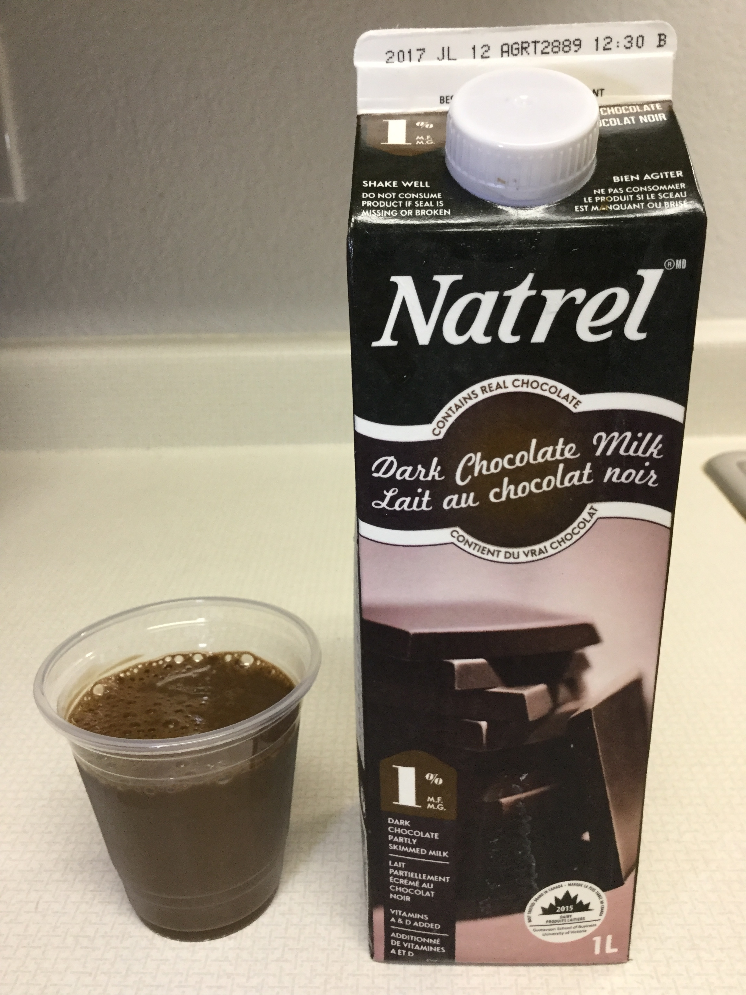 Natrel Dark Chocolate Milk Cup