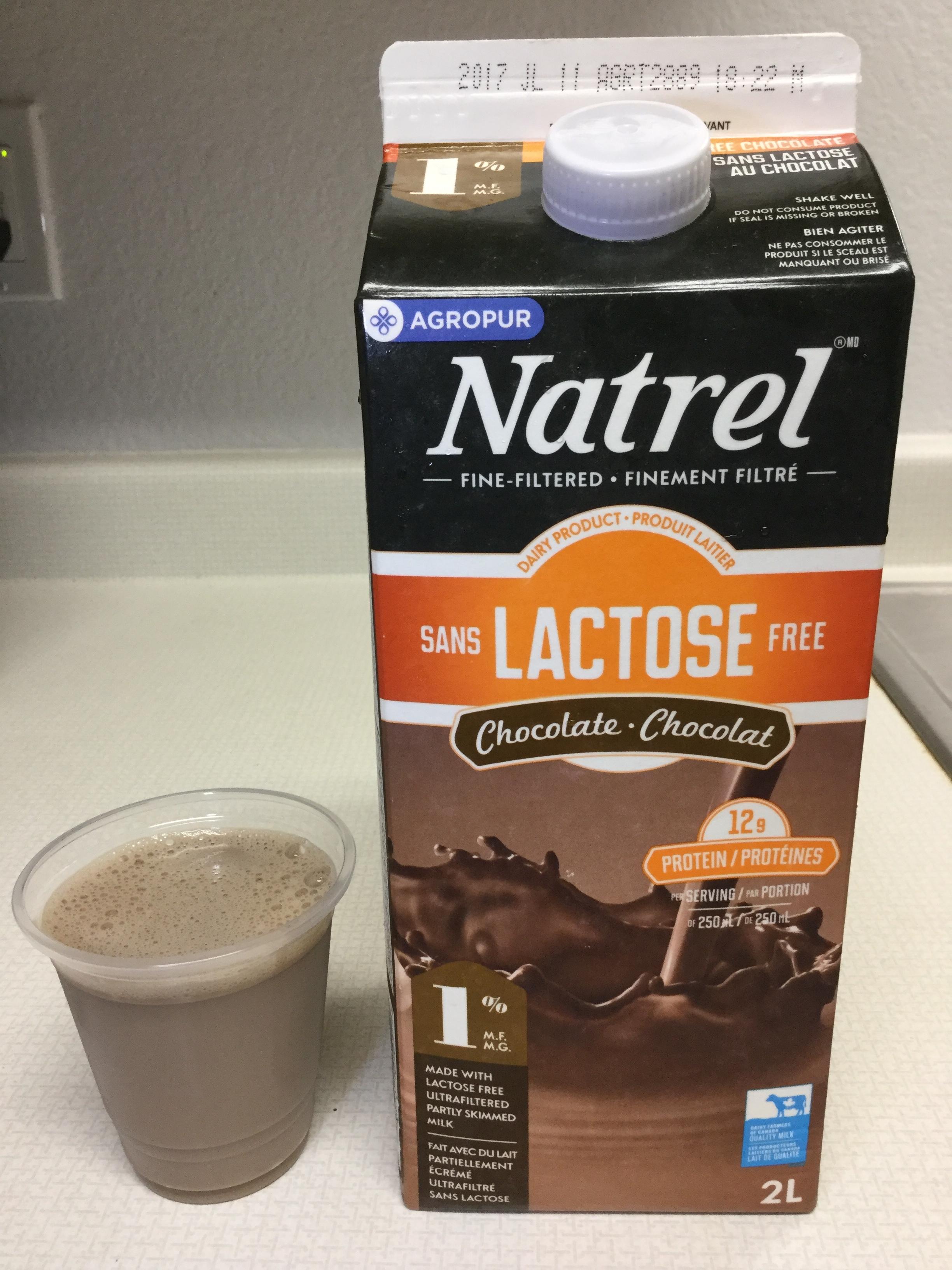 Natrel Lactose Free Chocolate Milk Cup