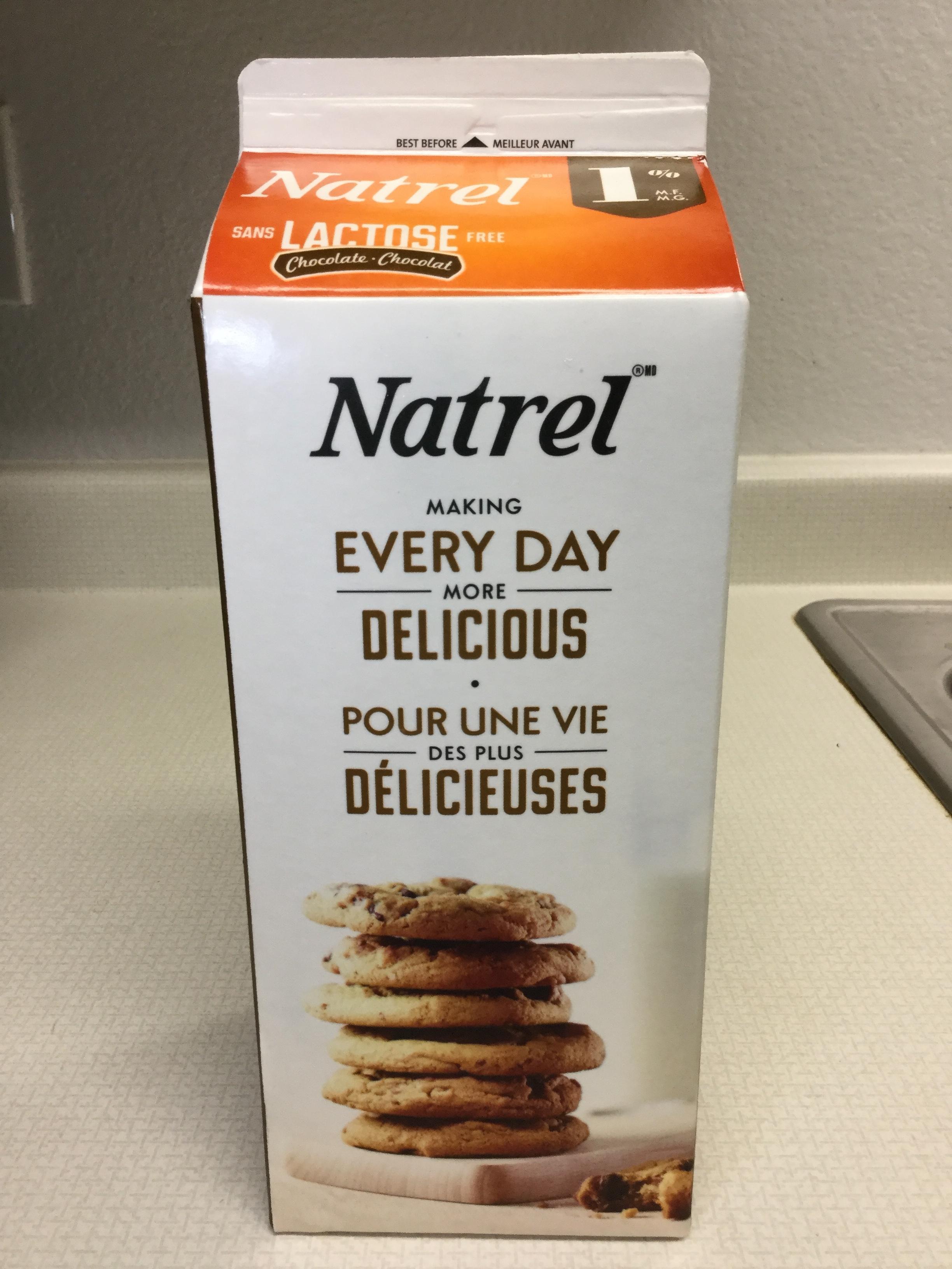 Natrel Lactose Free Chocolate Milk Side 3