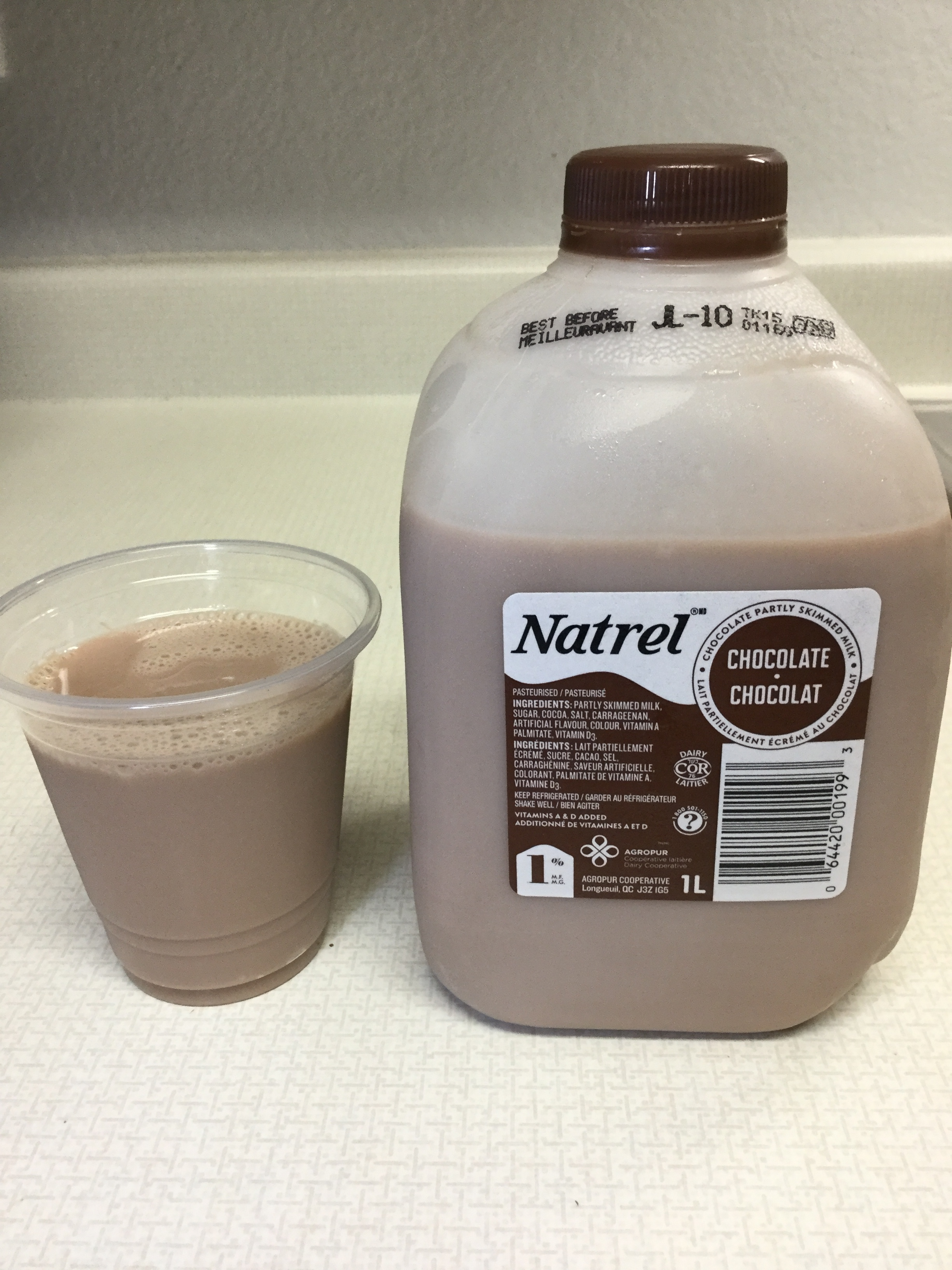 Natrel Chocolate Partly Skimmed Milk Cup
