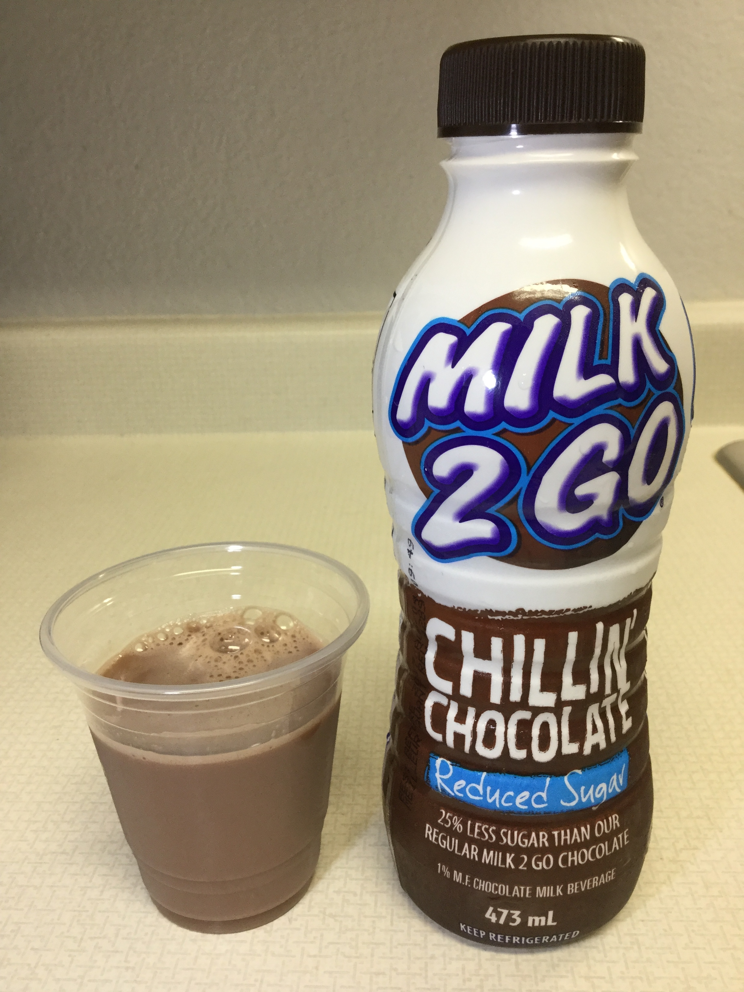 Saputo Milk 2 Go Chillin' Chocolate Reduced Sugar Cup