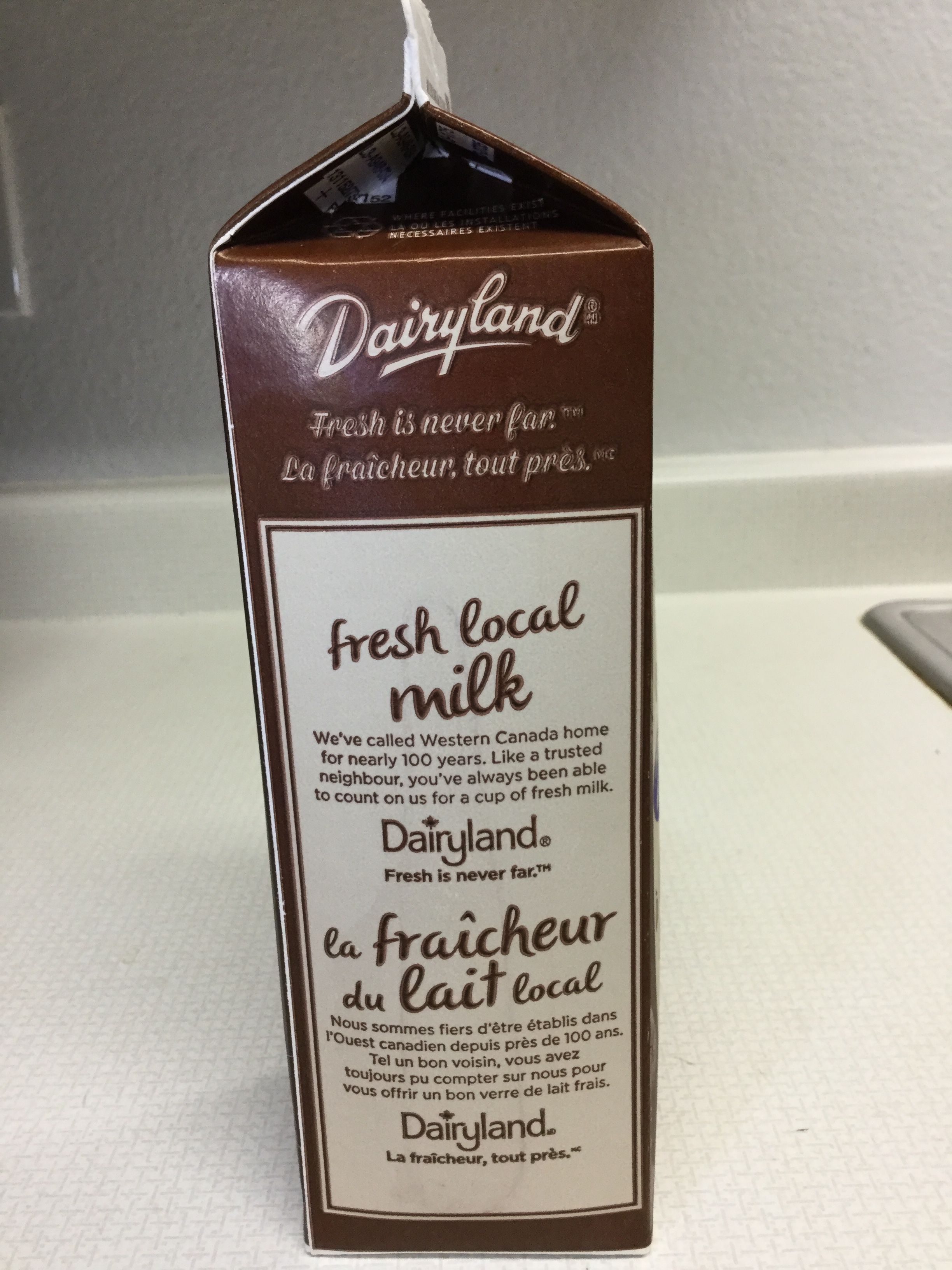 Dairyland Old Fashioned Chocolate Milk Side 2