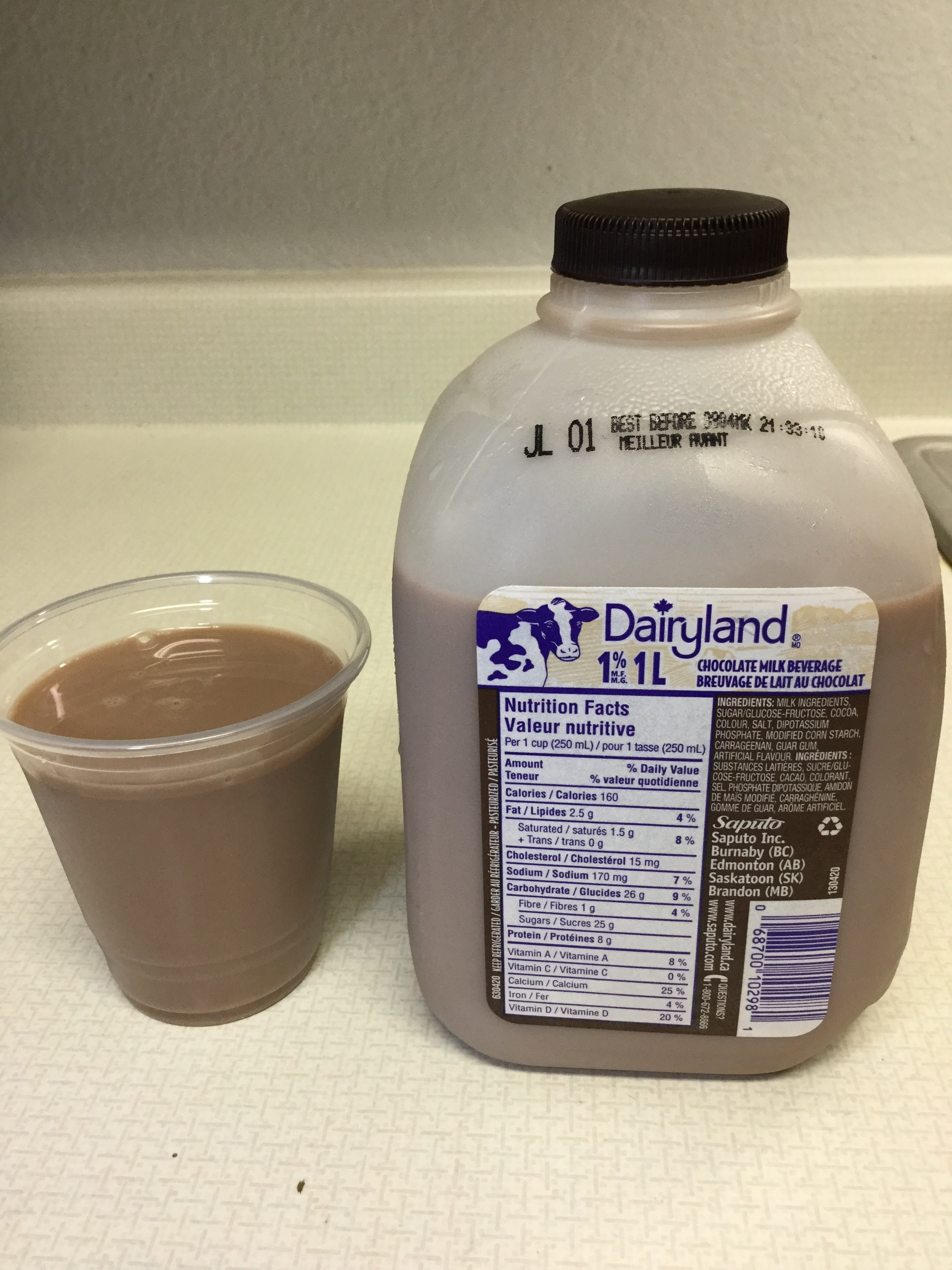 Dairyland Chocolate Milk Beverage (jug) Cup