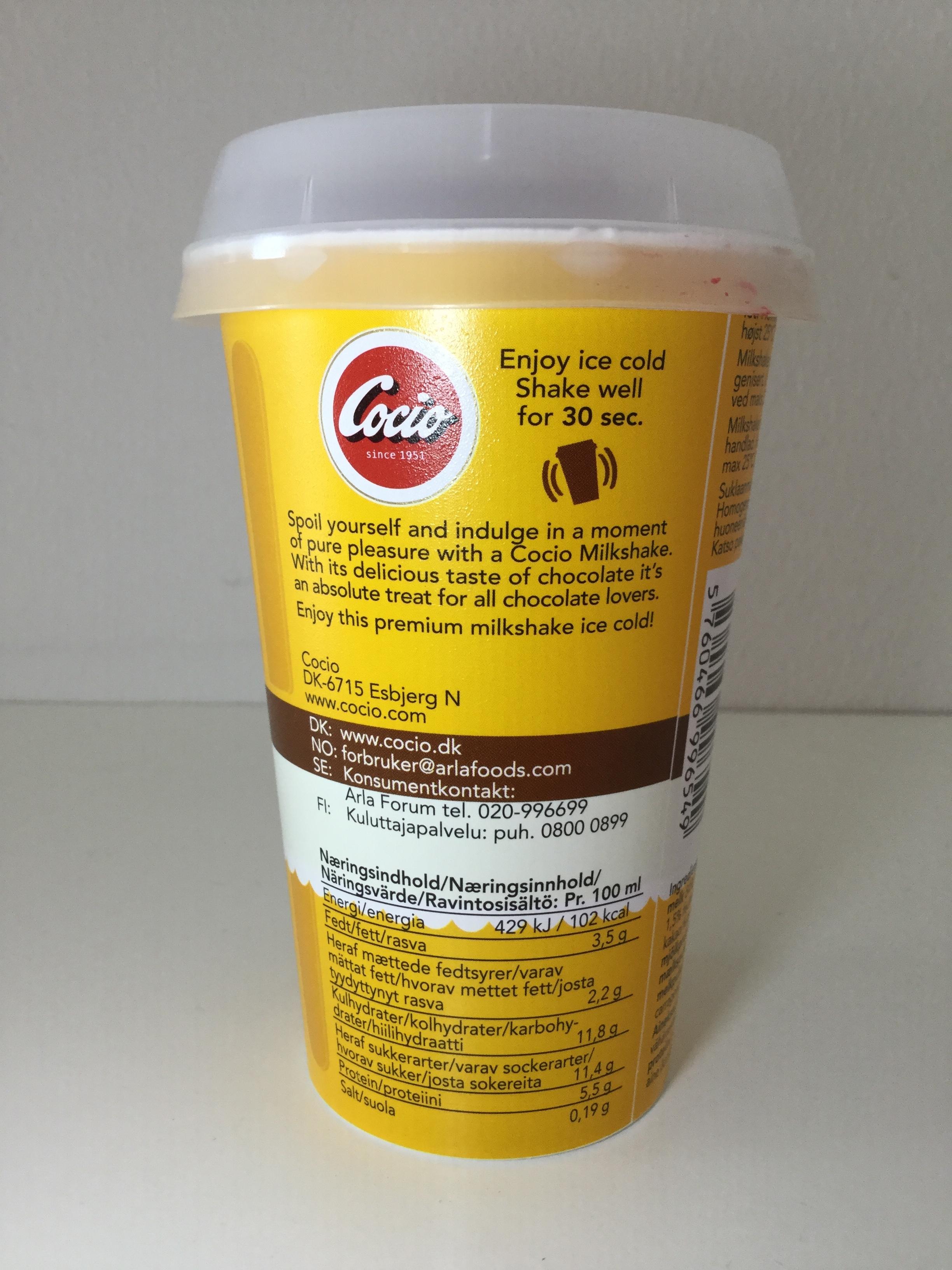 Cocio Chocolate Flavour Milkshake Side 1