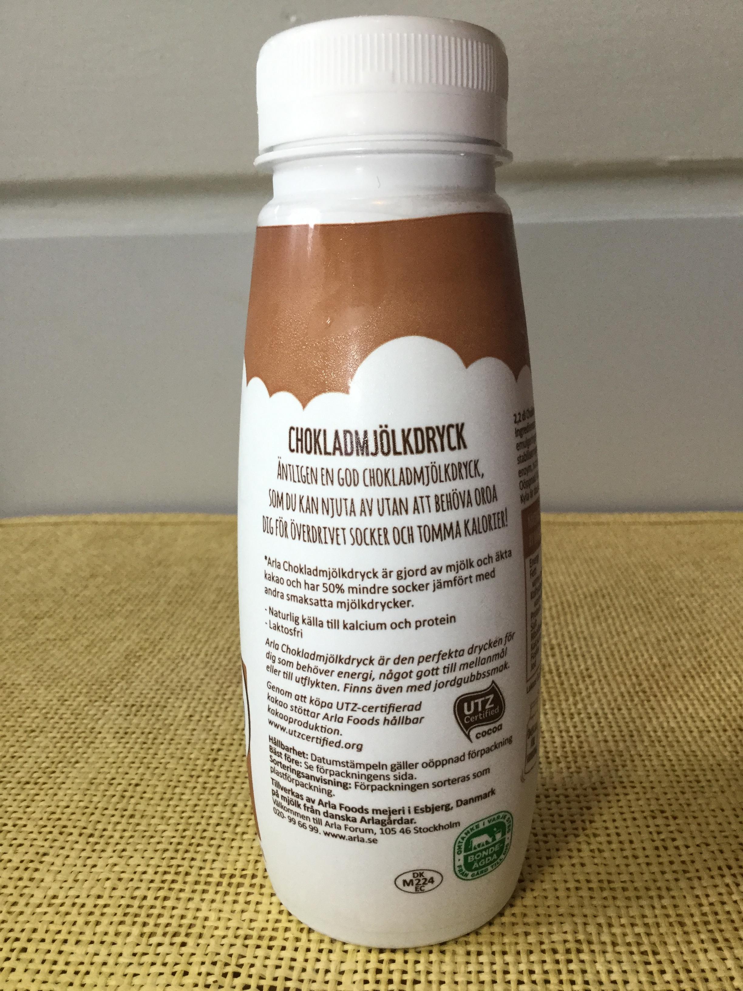 Arla Choklad Mjölk Dryck 50% Less Sugar Side 2
