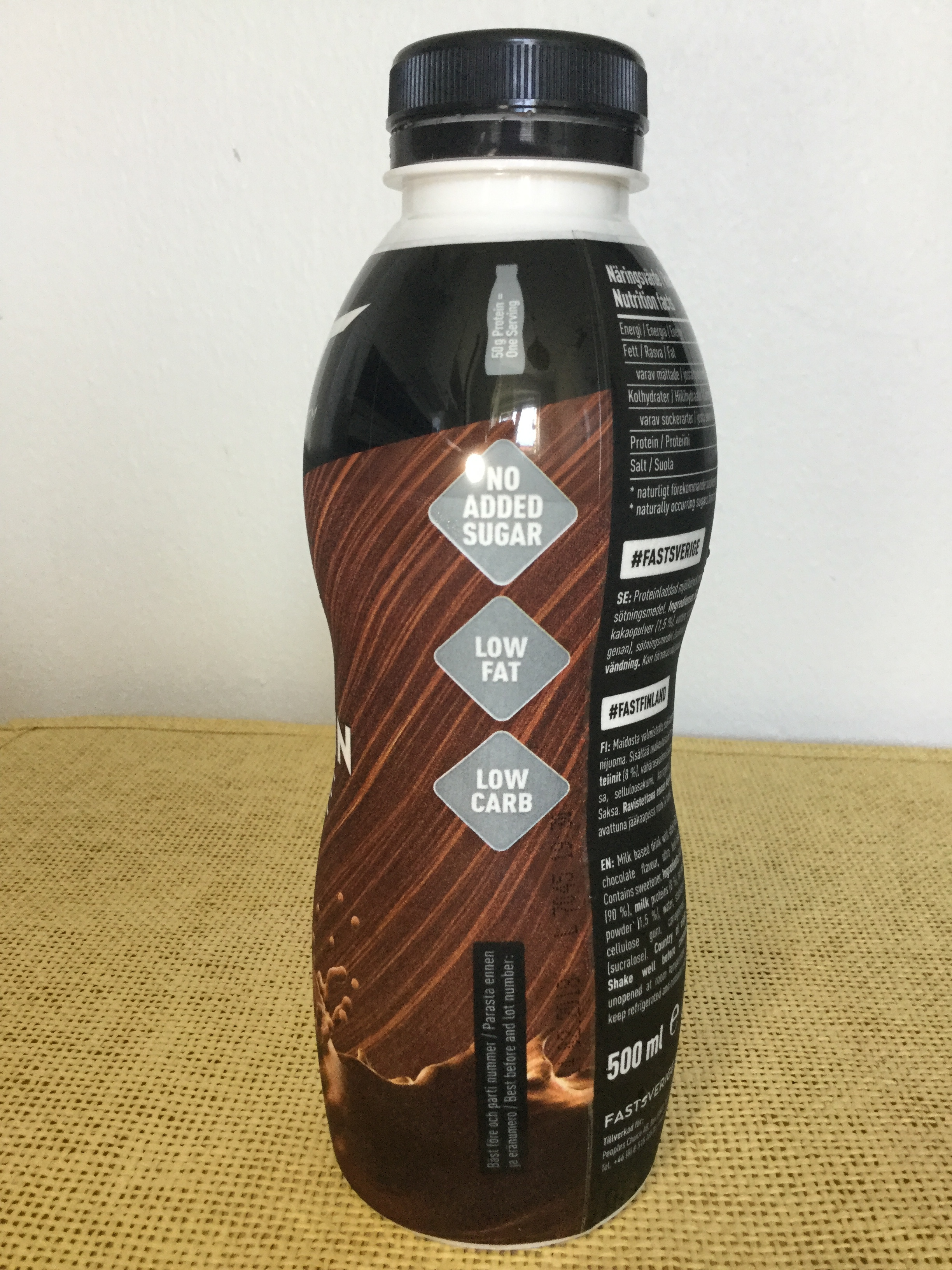 Fast Protein Shake Chocolate Side 2