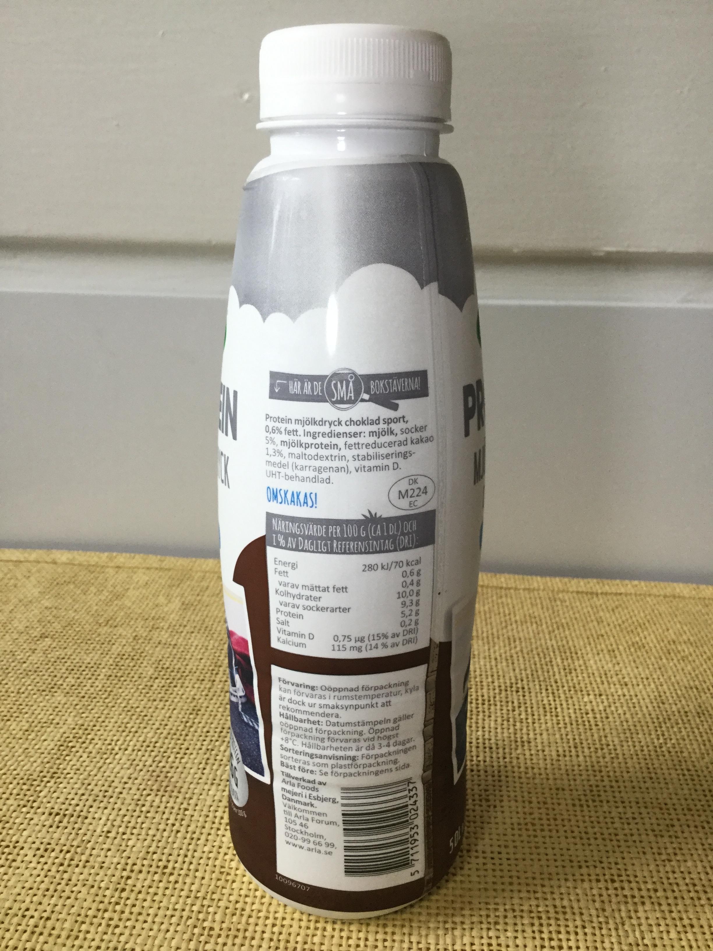 Arla Protein Choklad Mjölkdryck Sport Side 1